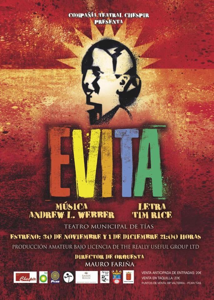 La Asociación Chéspir representa 'Evita' en el Teatro Municipal de Tías este fin de semana