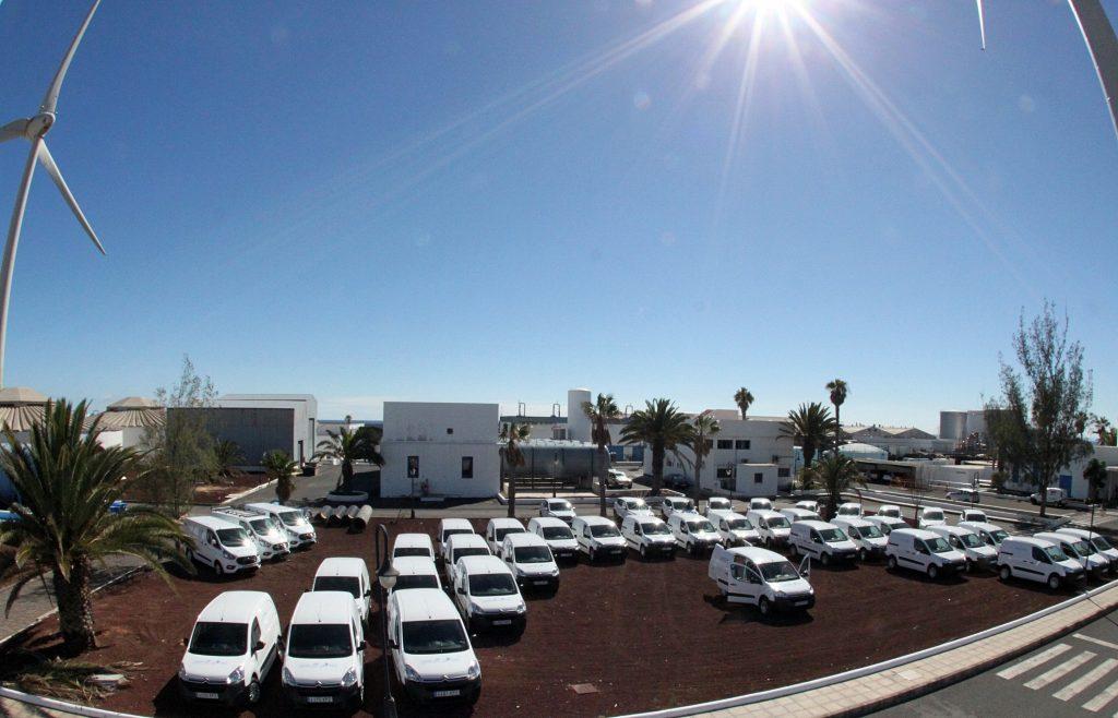 Desembarca una de las  mayores flotas de coches eléctricos de Canarias