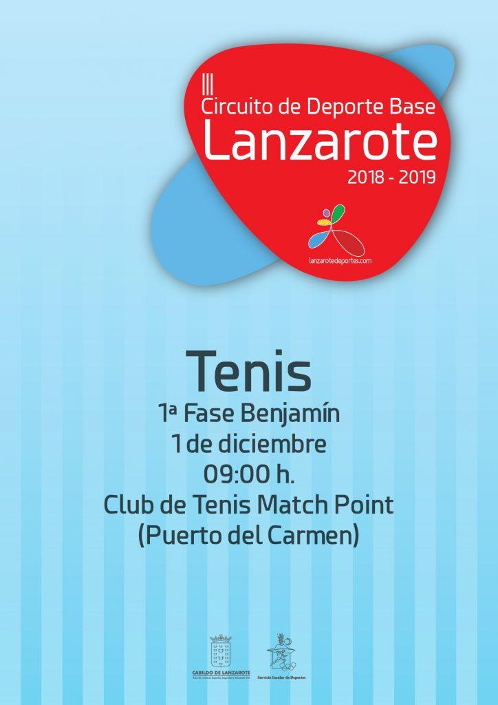 El III Circuito de Deporte Base de Lanzarote arranca este sábado en el Club de Tenis Match Point de Puerto del Carmen