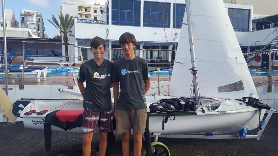 Alberto Morales y Miguel Bethencourt campeones sub17 y terceros Sub19 de la Copa de España de 420