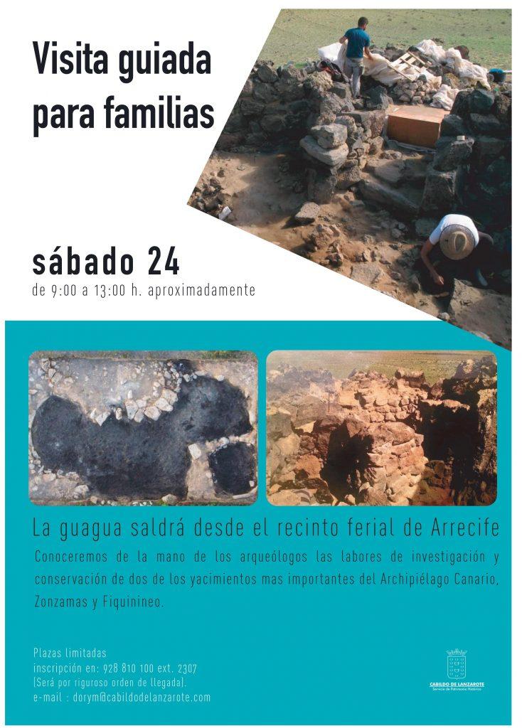 El Cabildo de Lanzarote organiza una visita guiada para las familias a los yacimientos arqueológicos de Zonzamas y Fiquinineo