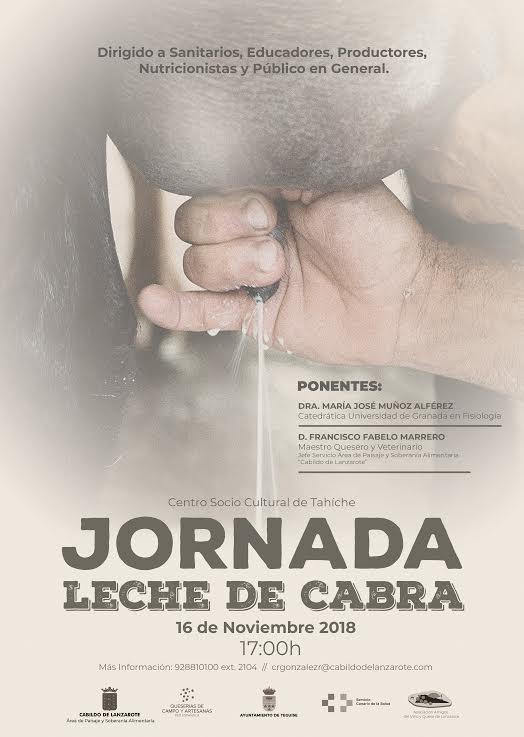 El Cabildo de Lanzarote organiza para este viernes un curso sobre los beneficios nutricionales de la leche de cabra