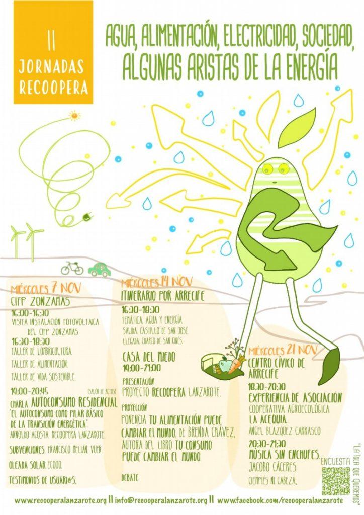 Los miércoles de noviembre son miércoles energéticos con las II Jornadas de  Recoopera Lanzarote.