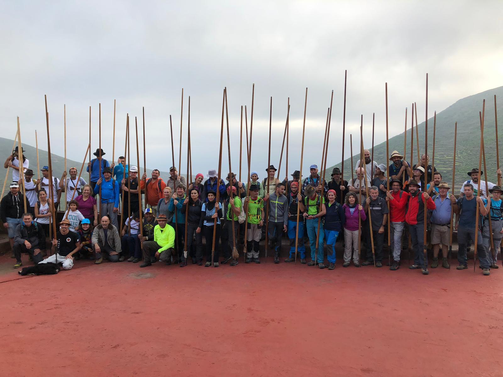 Alrededor de 70 saltadores participaron en el 'I Encuentro Insular de Salto del Pastor Canario'