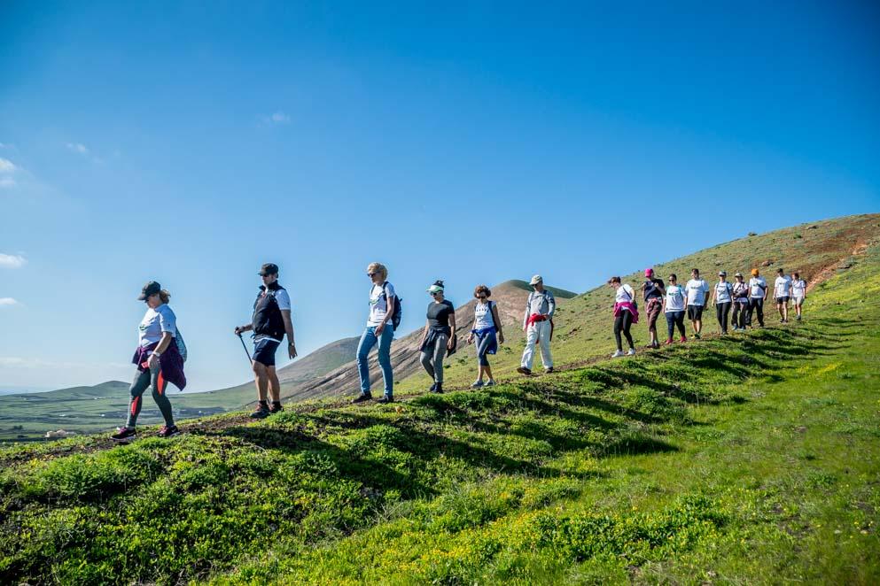 Éxito de participación en el 'IX Encuentro de Senderismo en Lanzarote'