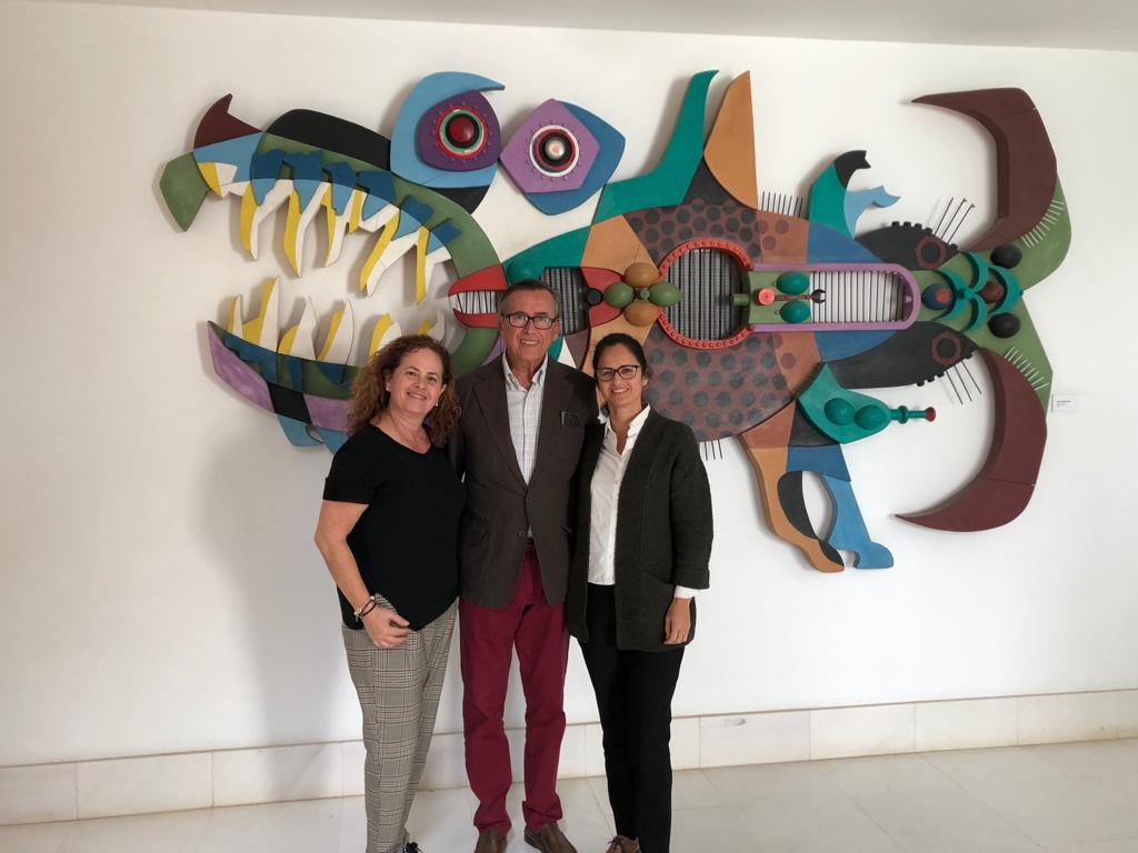Los promotores de la asociación Escultura César Manrique continúan su periplo de contactos
