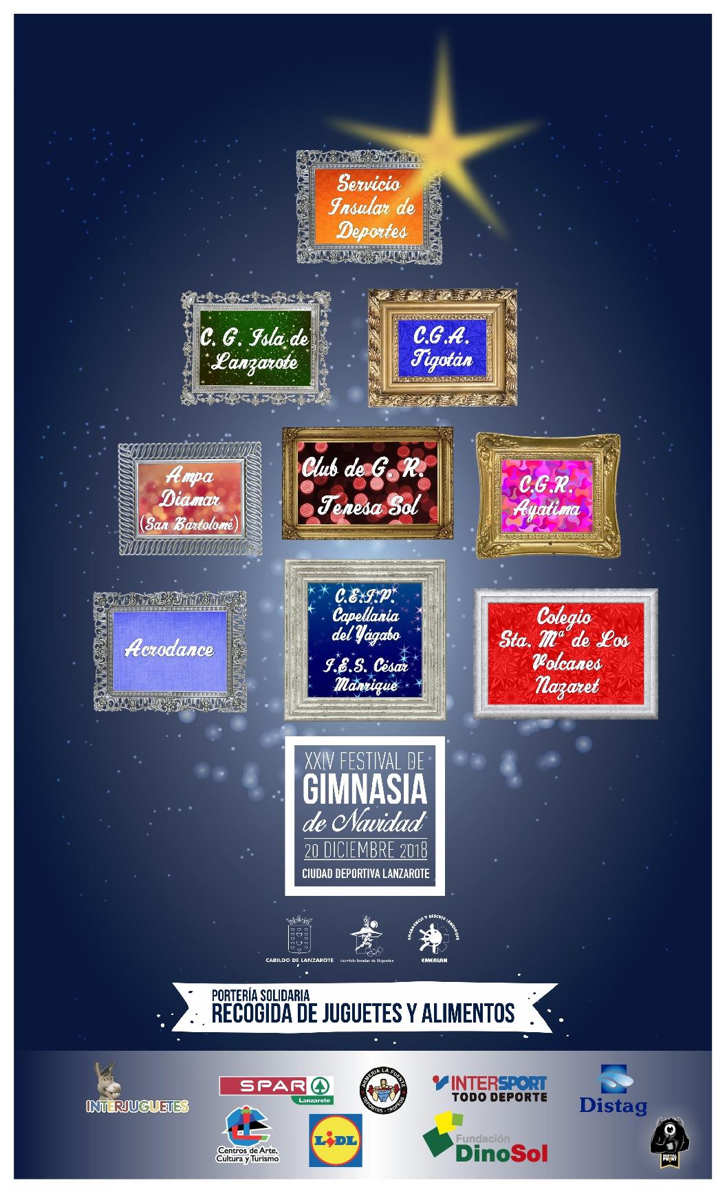 La Ciudad Deportiva Lanzarote acoge este jueves el XXIV Festival de Gimnasia de Navidad, organizado por el Cabildo