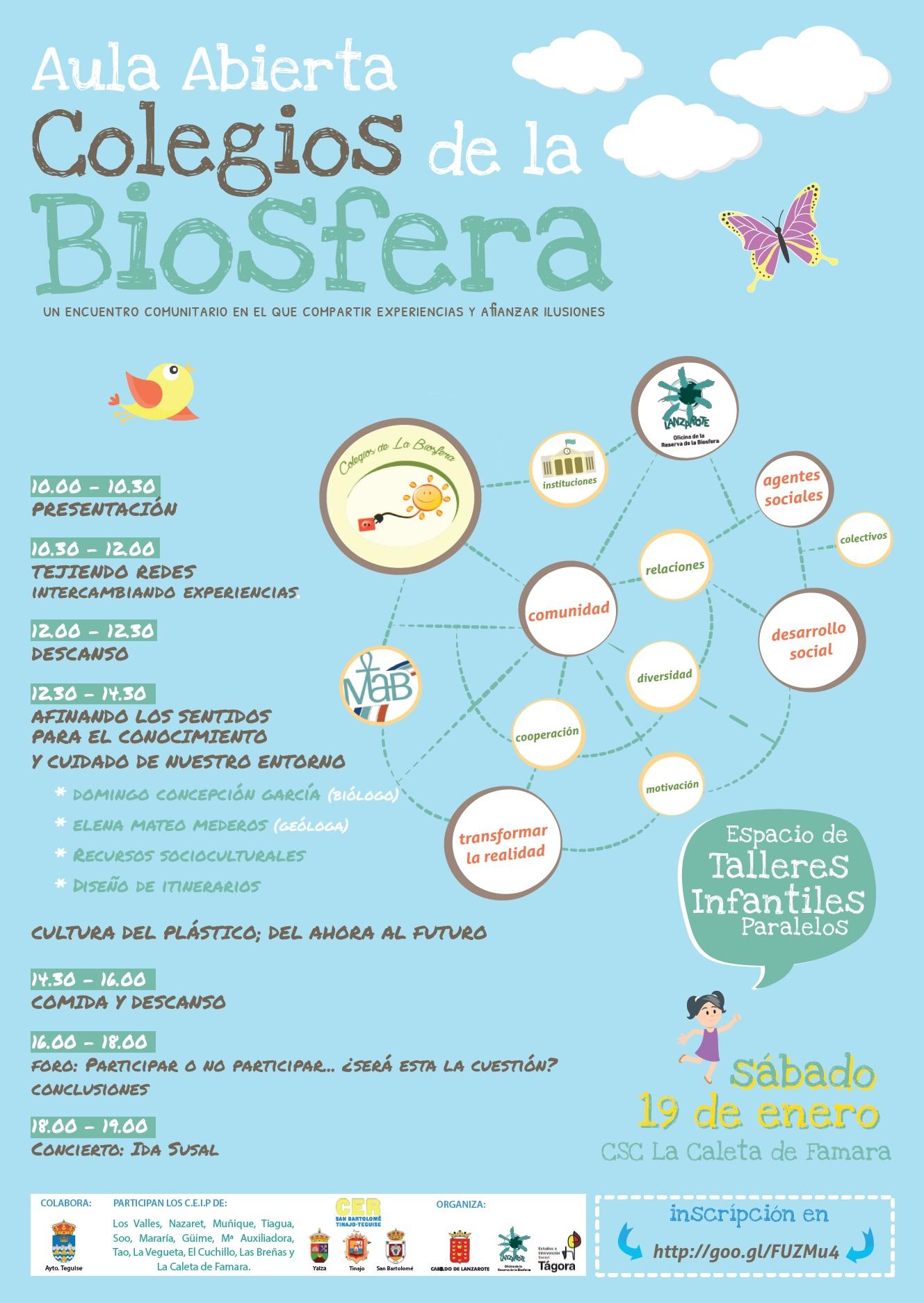 El Cabildo de Lanzarote organiza el encuentro comunitario 'Aula Abierta' de los Colegios de la Biosfera