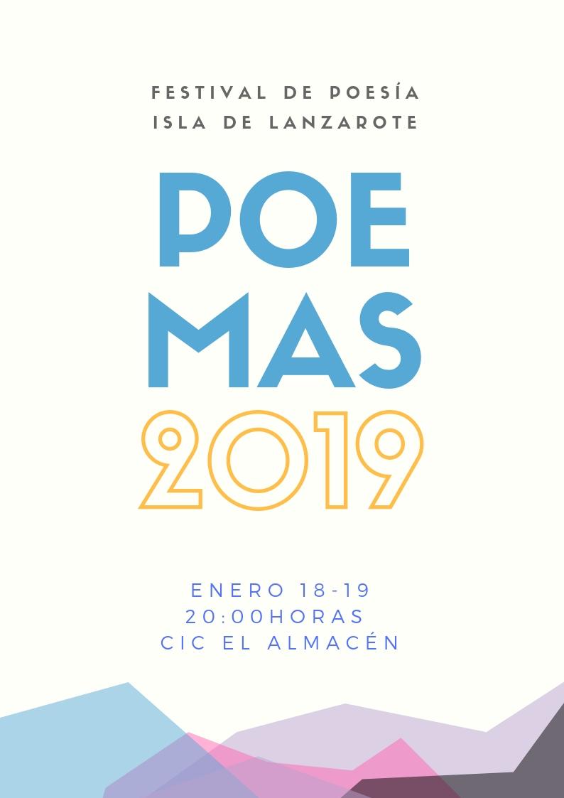 El I Festival de Poesía Isla de Lanzarote se celebrará los días 18 y 19 de enero en el CIC El Almacén