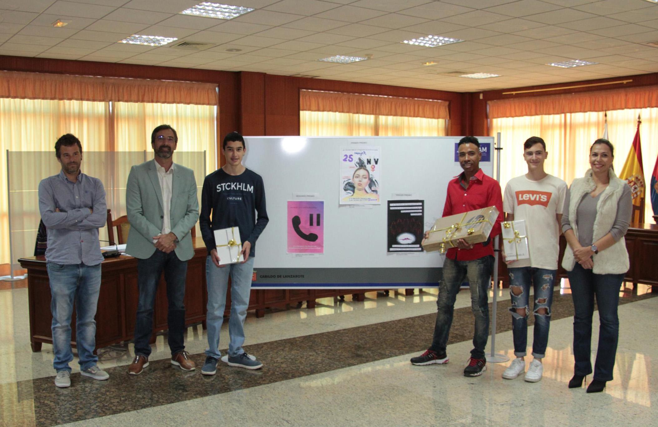 Elly Jean Bonilla gana el VI Concurso de Carteles contra la violencia de género del Cabildo de Lanzarote
