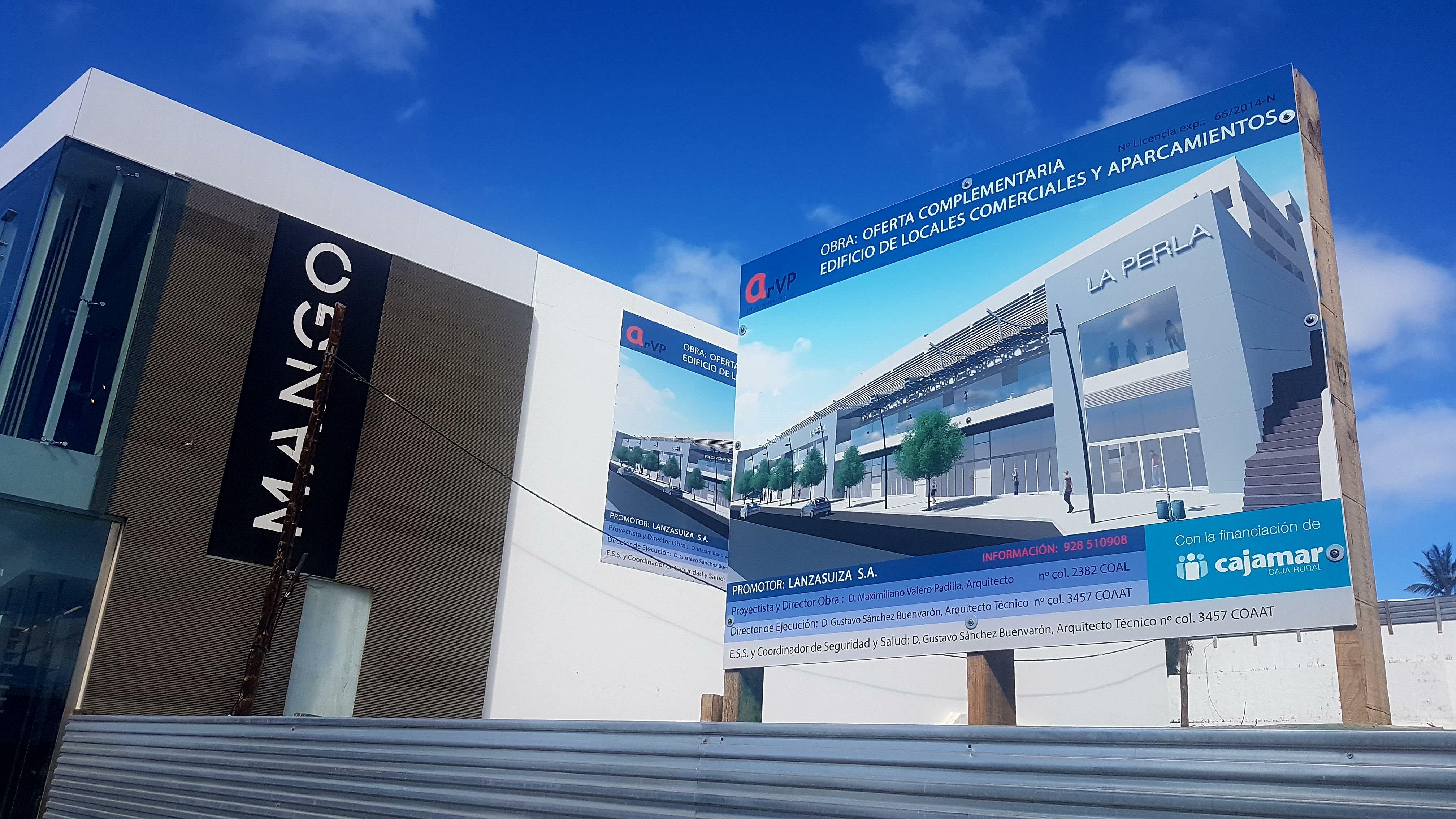 Solicitada licencia para un nuevo centro comercial y 359 plazas de aparcamiento en Puerto del Carmen