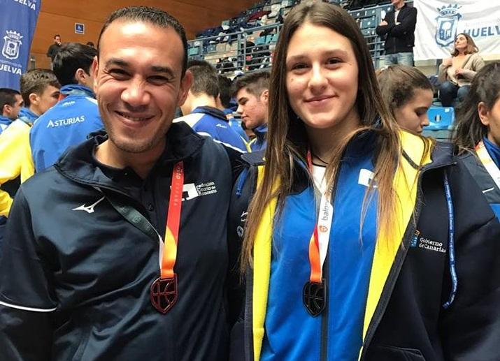 Noelia Lago y Mohamed Fouad consiguen el ascenso con Canarias