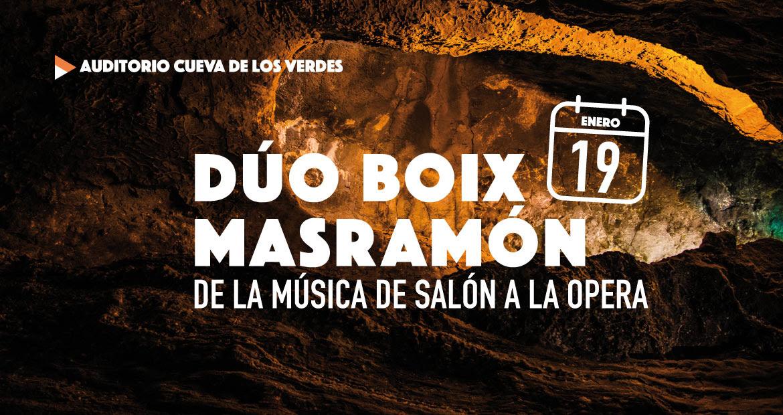 Aún quedan entradas para disfrutar del concierto que ofrecerá el Dúo Boix Masramón en la Cueva de los Verdes