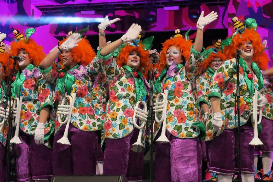 Los Tabletuos, Desahuciados,  Intoxicados, Simplones y Las Vacilonas, murgas finalistas del Carnaval Manriqueño de Arrecife