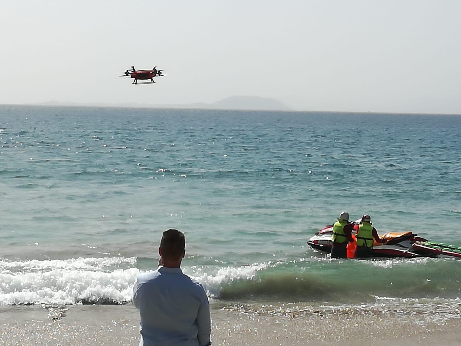El Consorcio de Seguridad y Emergencias ve en los drones un nuevo elemento de rescate acuático