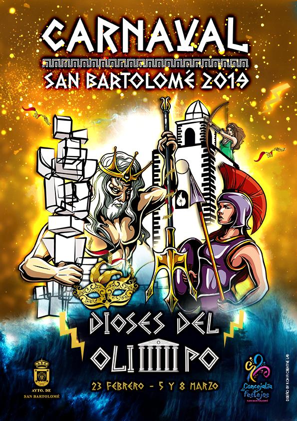 """San Bartolomé presenta el Carnaval Municipal que tendrá como temática oficial """"Dioses del Olimpo"""""""