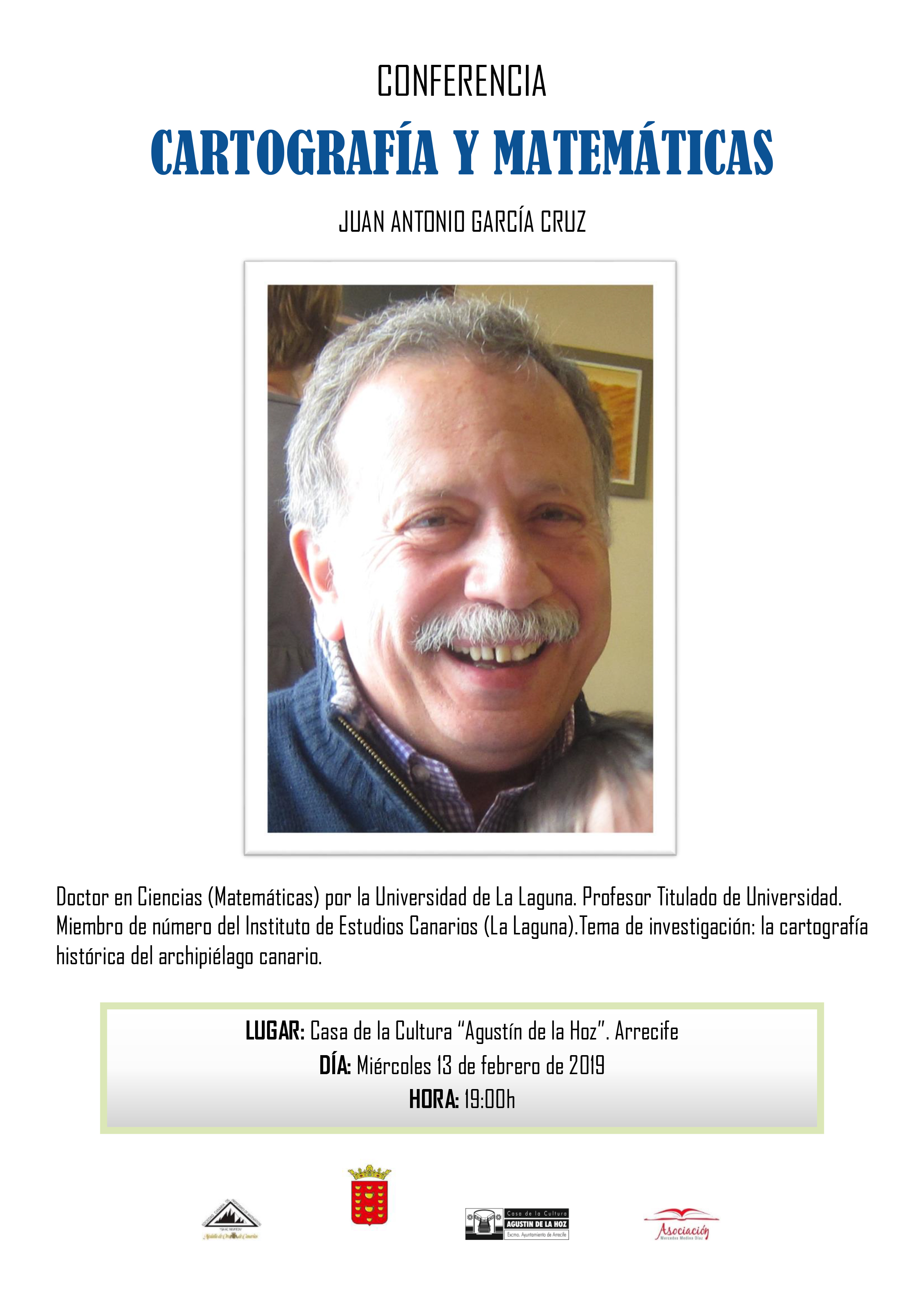 La Casa de la Cultura Agustín de la Hoz acoge mañana una conferencia sobre Cartografía y Matemáticas