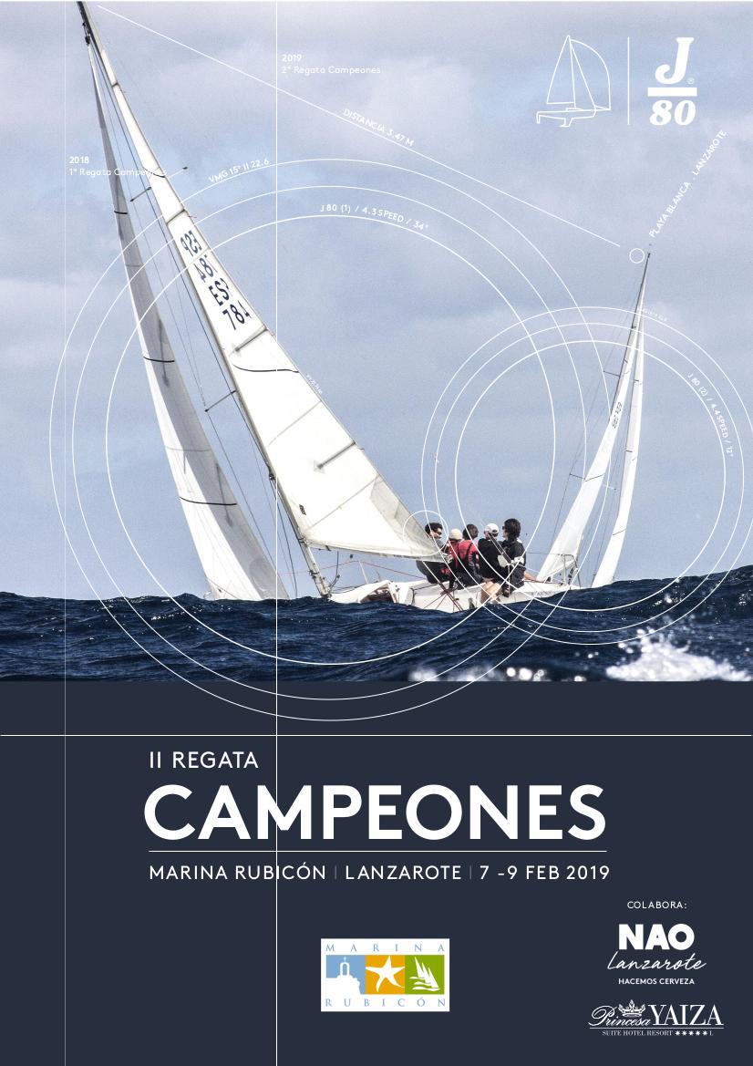 La Copa de Campeones trae a Lanzarote a las mejores tripulaciones de J80 de España