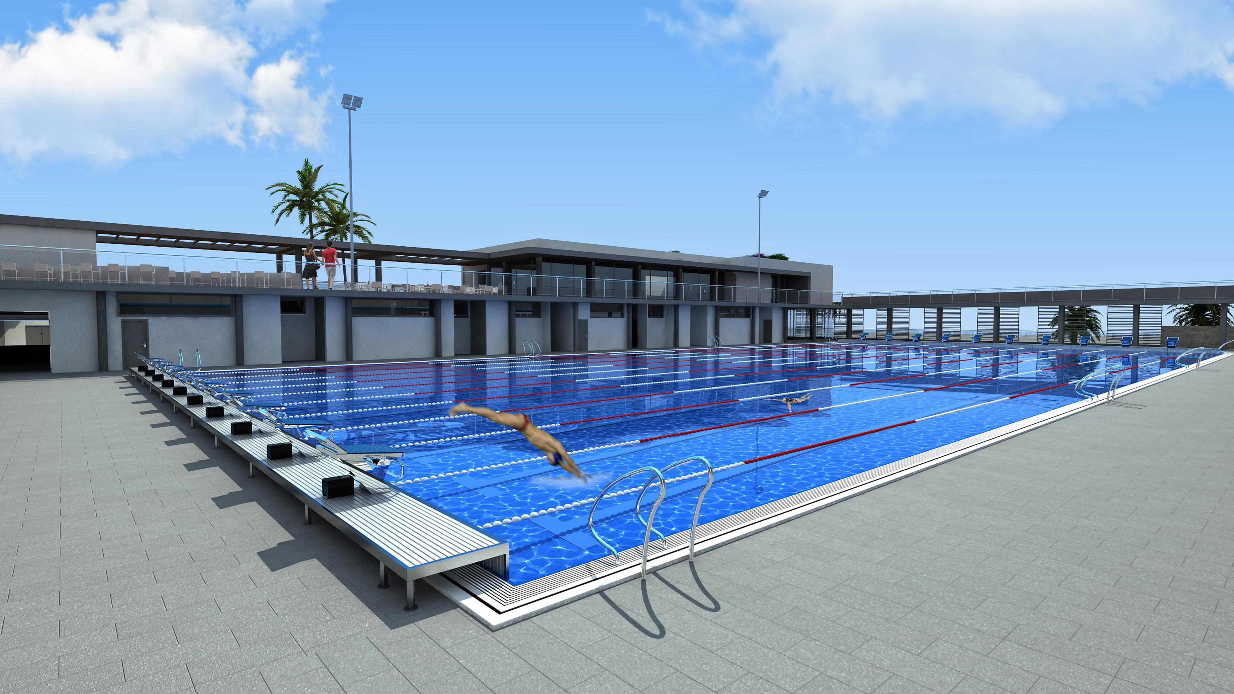 La remodelación de la Ciudad Deportiva Lanzarote, que incluirá una piscina olímpica climatizada, supondrá una inversión de unos 6 millones de euros