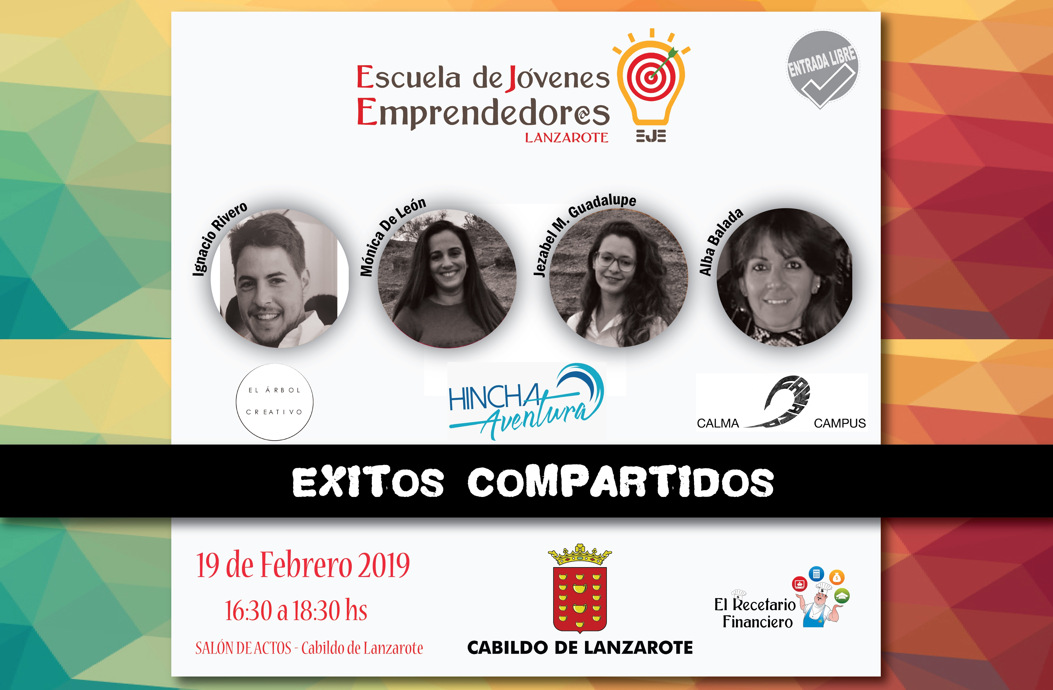 El Cabildo de Lanzarote acoge una nueva edición de `Éxitos Compartidos', el evento anual de la Escuela de Jóvenes Emprendedores