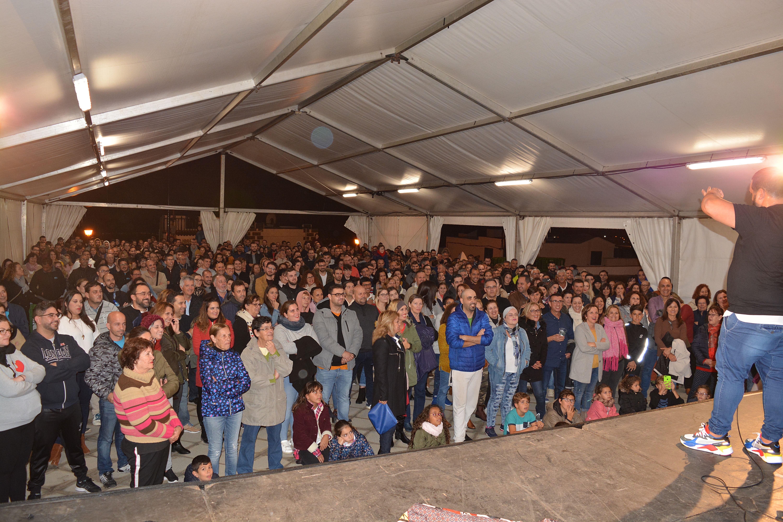 Kike Pérez inunda de carcajadas las fiestas de La Candelaria, en Tías