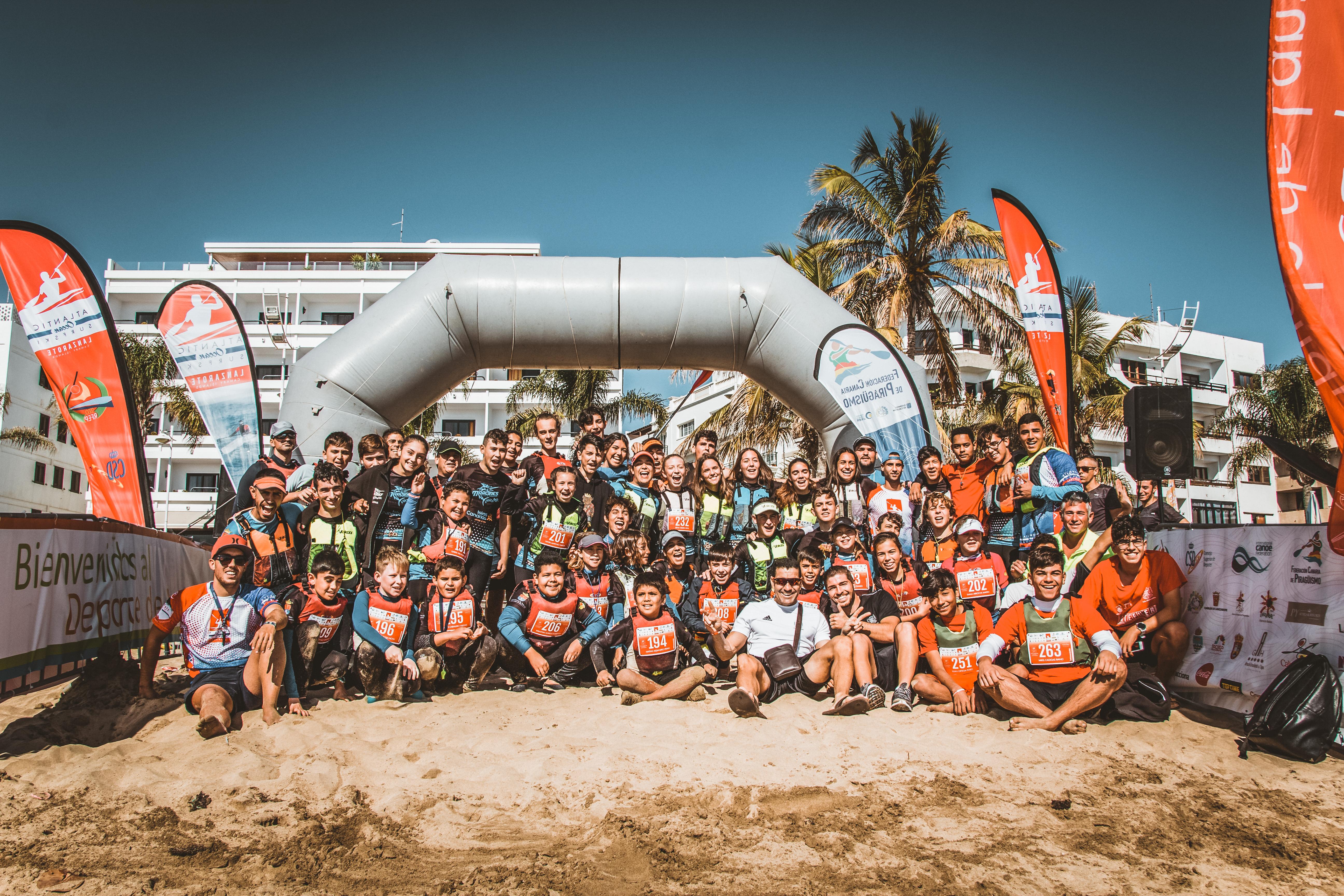 El club de piragüusmo Marlines de Lanzarote participó en la Atlantic Ocean Surfski y I Copa de Canarias de Kayak de mar Lanzarote 2019