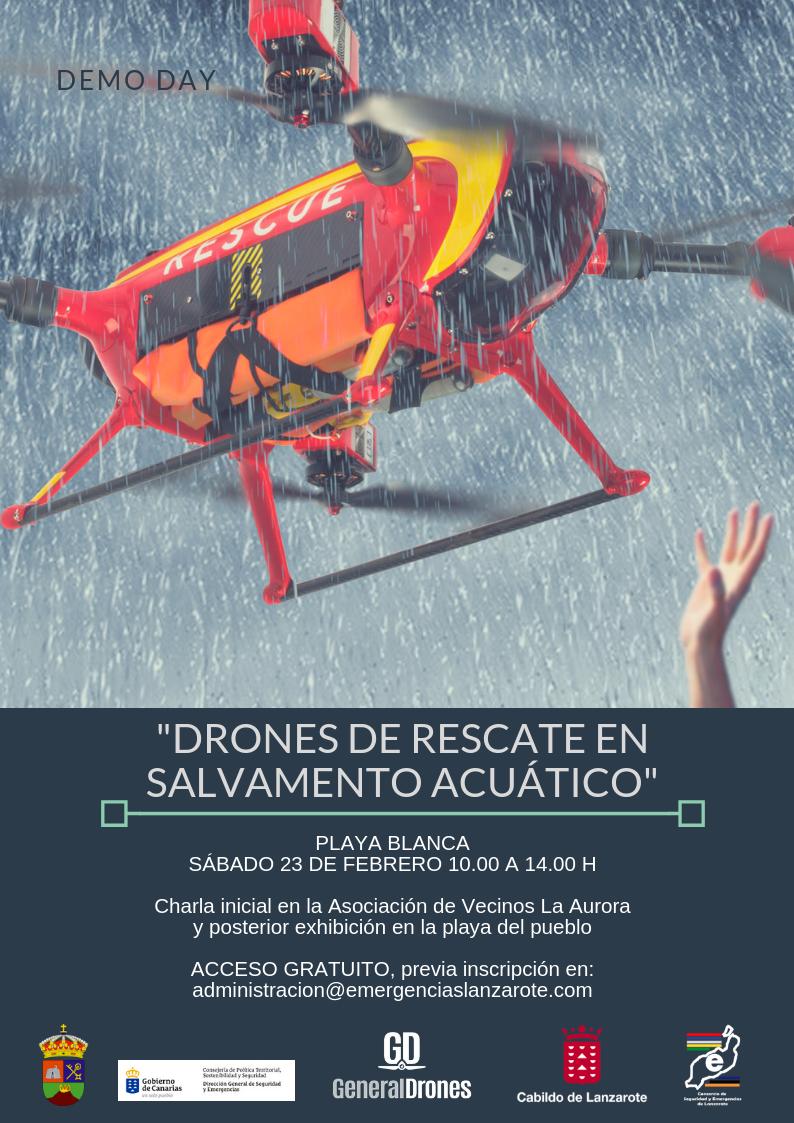 La charla 'Drones de rescate en salvamento acuático' que organiza el Consorcio de Seguridad ya cuenta con 25 inscritos
