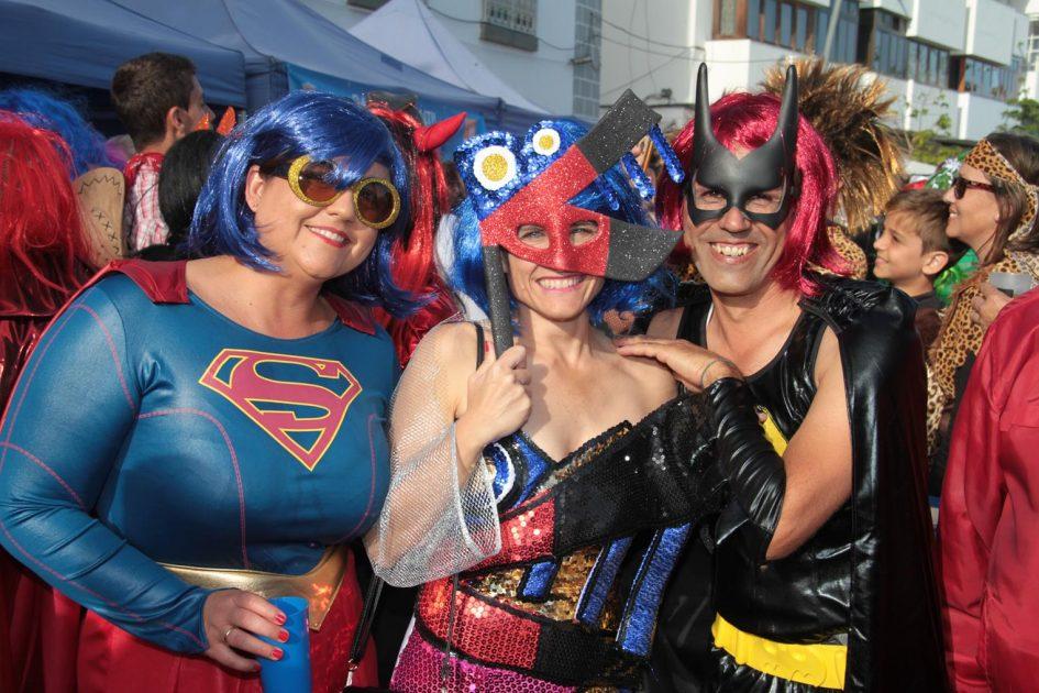 Récord de mascaritas en el Carnaval Porteño de Arrecife