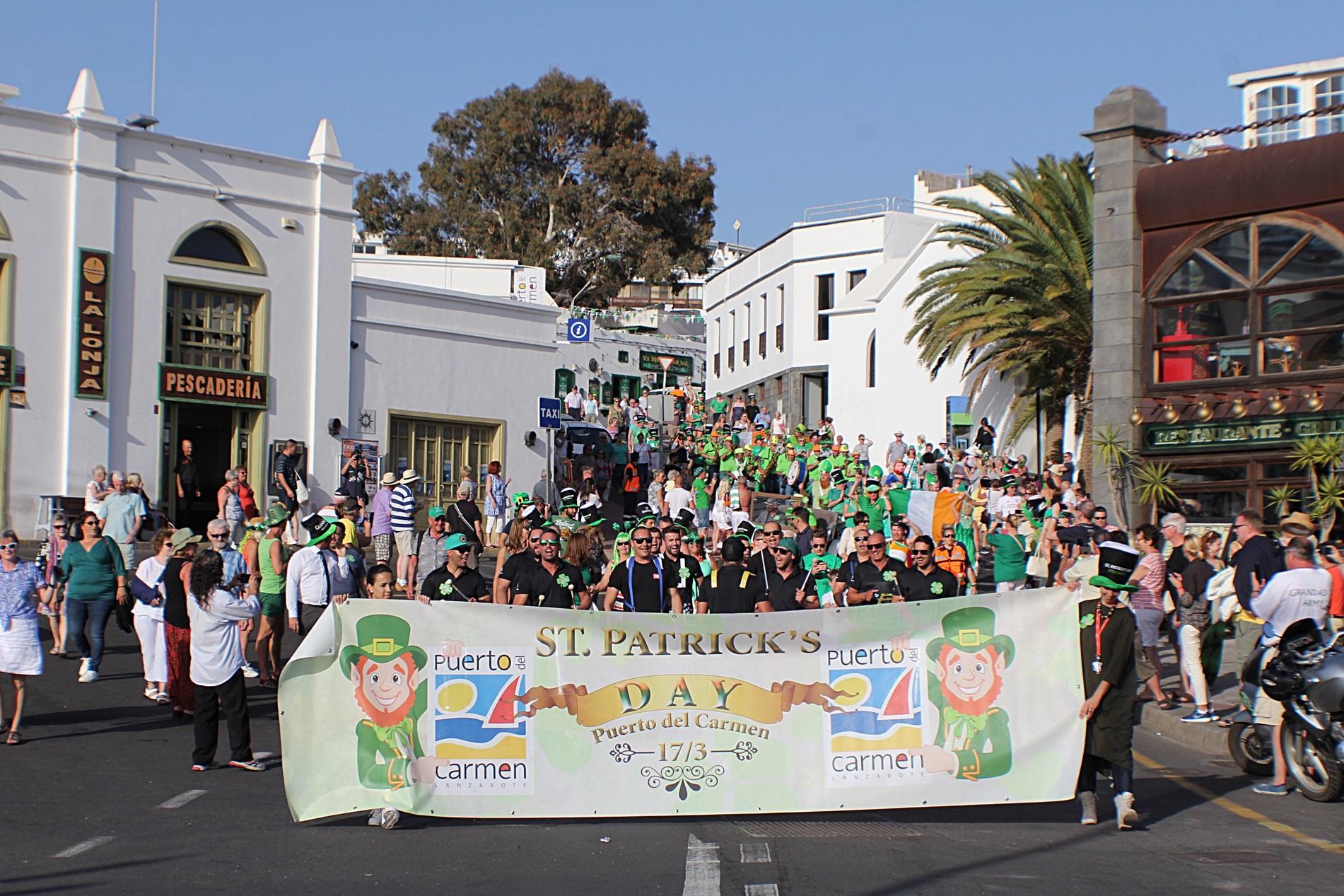 Puerto del Carmen celebra la festividad de St. Patrick's Day con las buenas cifras del turismo irlandés