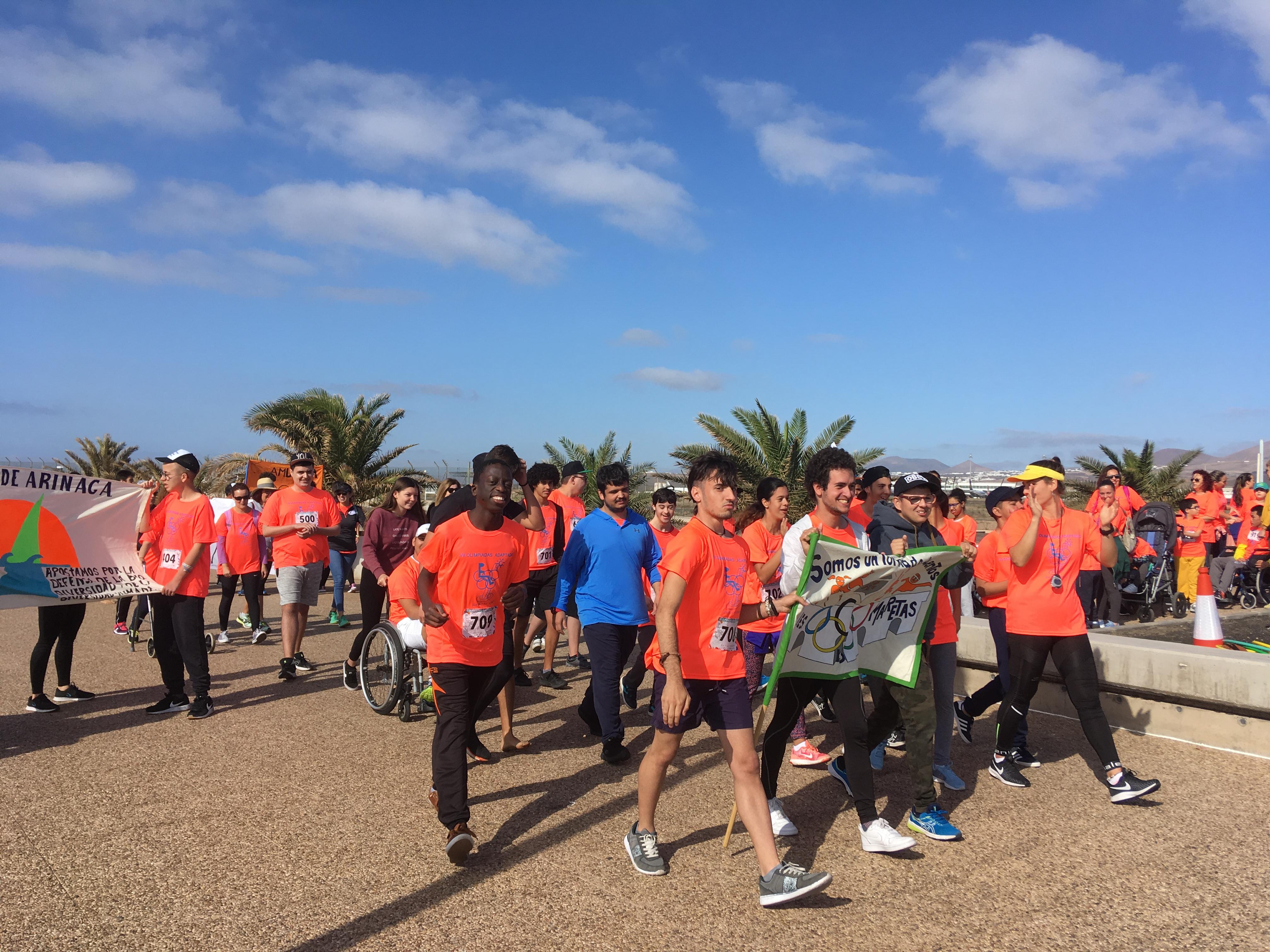 Arrecife participa en las VII Olimpiadas Insulares Adaptadas