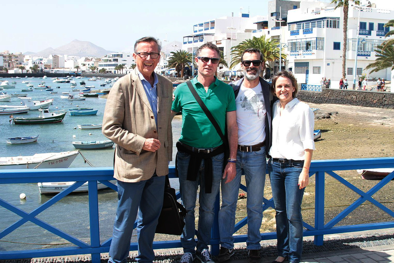 Manolo González y Eva de Anta buscan 'la Mirada de César' en Arrecife