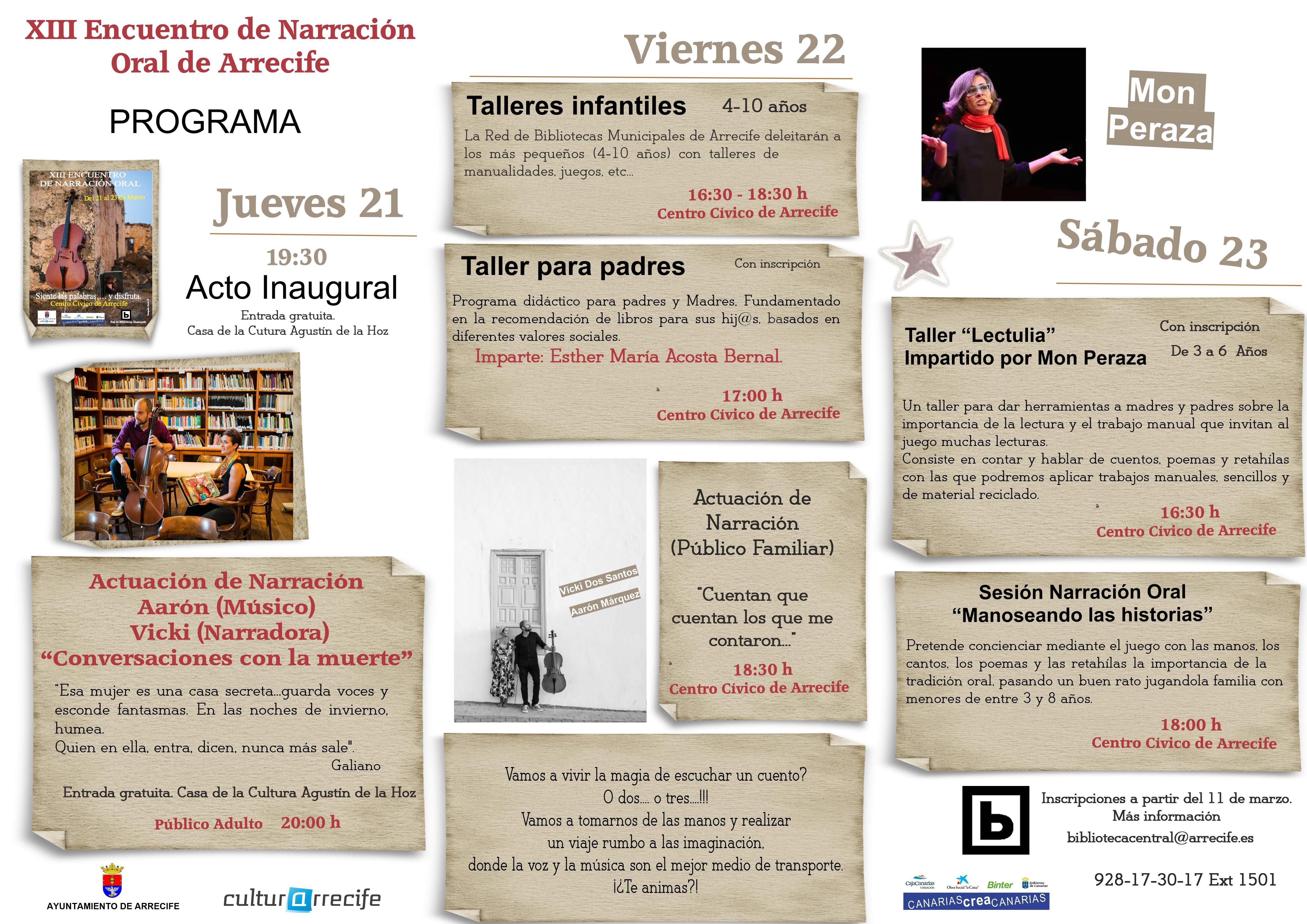 """""""Conversaciones con la muerte"""" para inaugurar el XIII Encuentro de Narración Oral"""