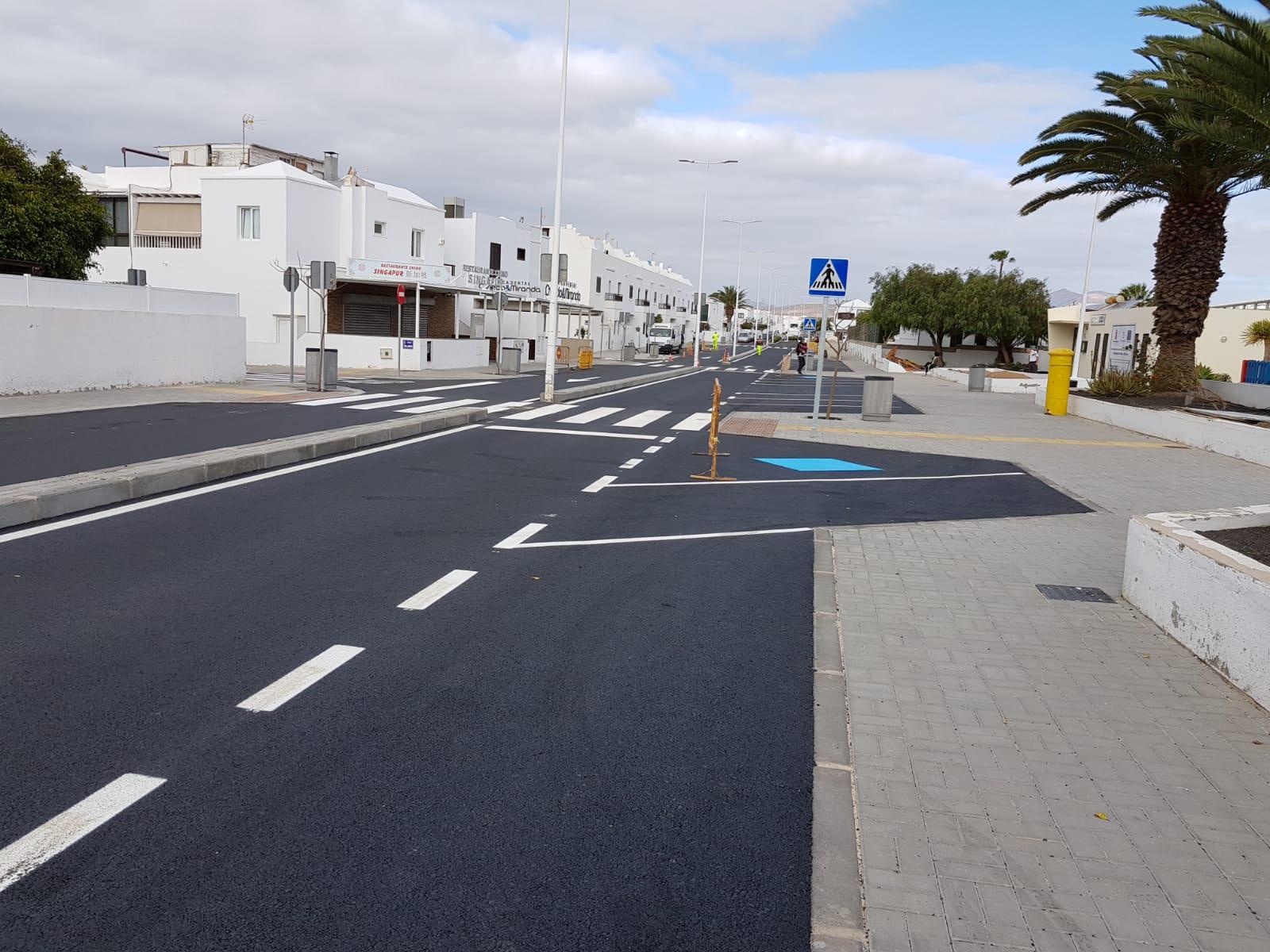 Las obras del Camino Escolar seguro de Playa Honda están a punto de concluir