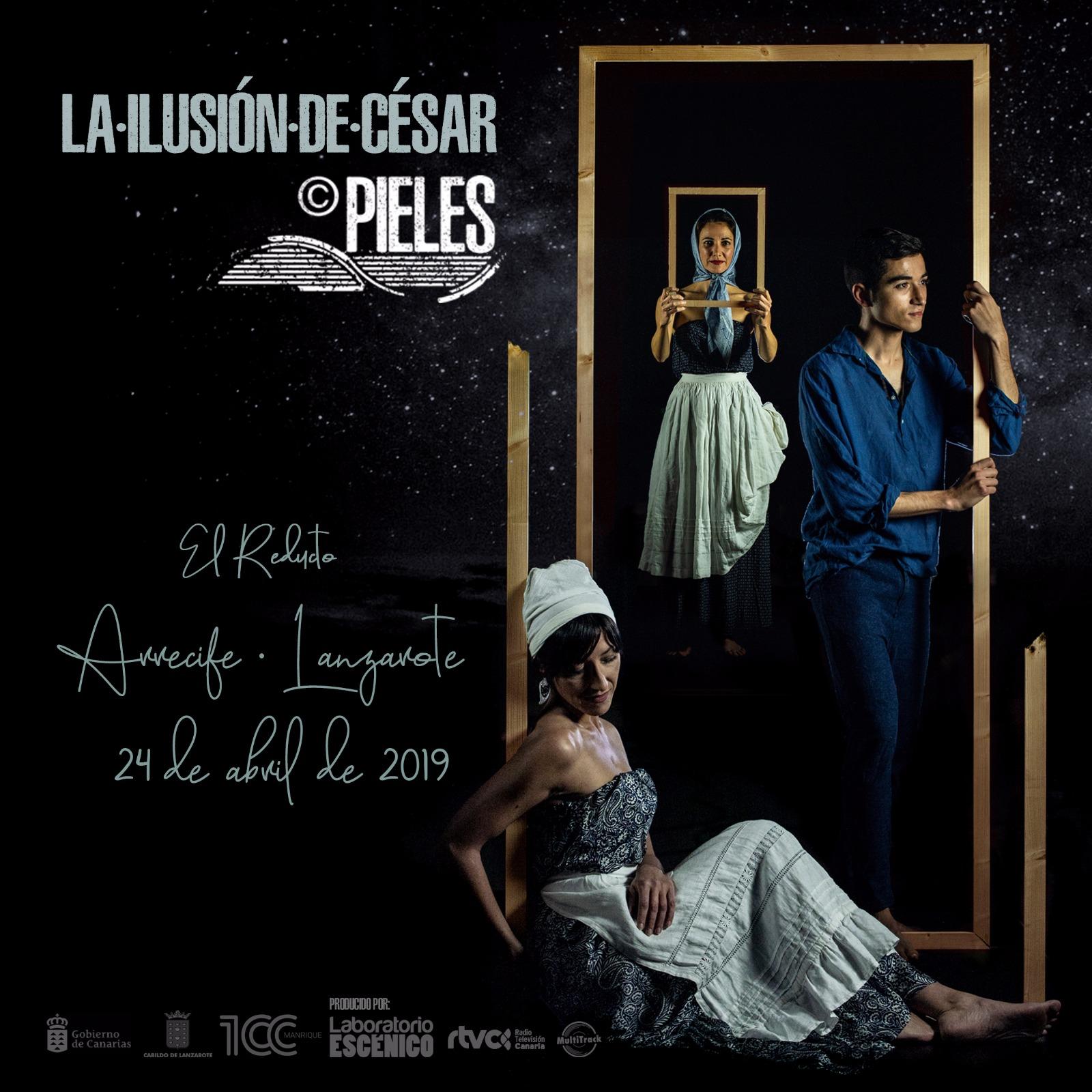 La compañía Pieles desvelará 'La ilusión de César' este miércoles 24 de abril en la Playa de El Reducto