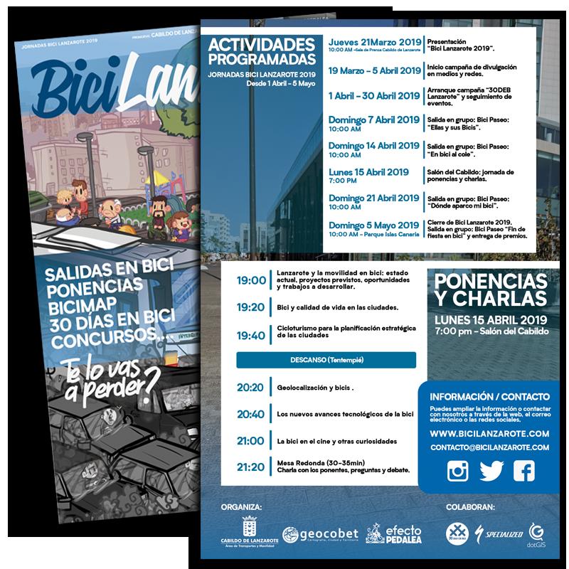 El Cabildo de Lanzarote organiza unas charlas sobre las oportunidades de moverse en bicicleta, la sostenibilidad y calidad ambiental, el cicloturismo, el mapping, la geolocalización y los nuevos avances tecnológicos de la bici
