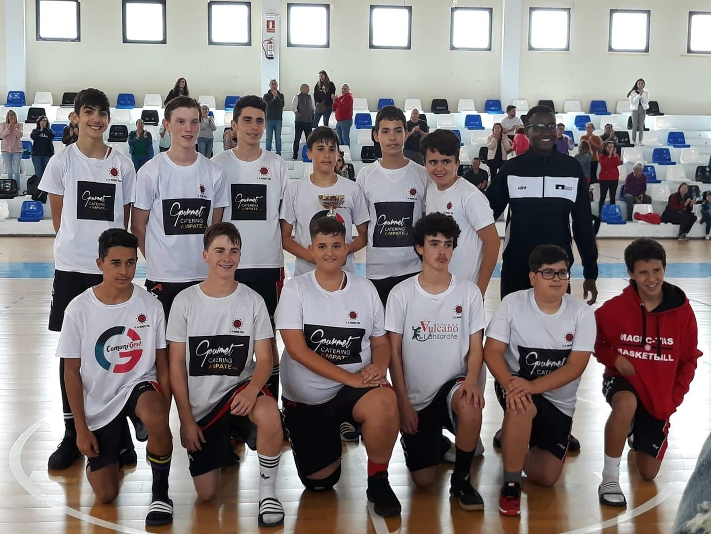 Los dos equipos pre-cadetes del Magec Tías disputan el Campeonato de Canarias