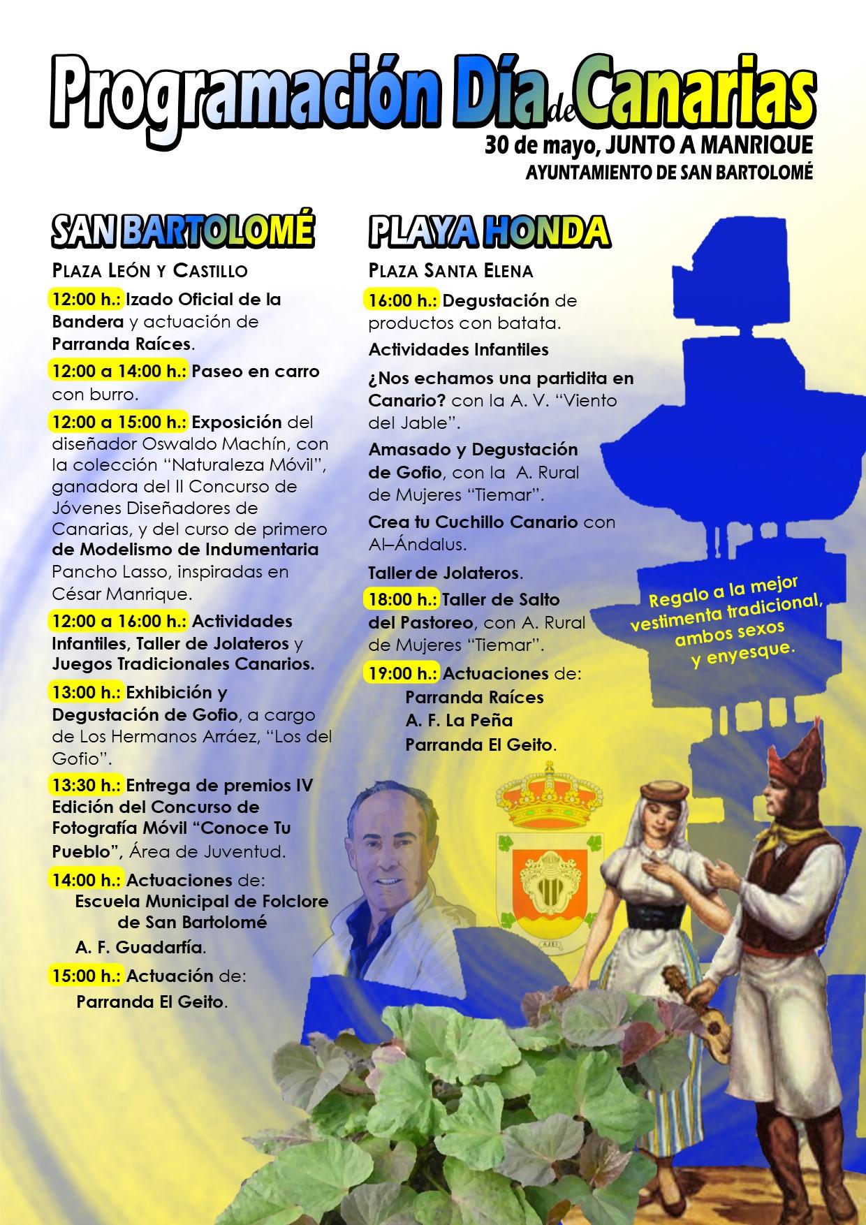 San Bartolomé celebra el Día de Canarias con una amplia programación para todos los públicos