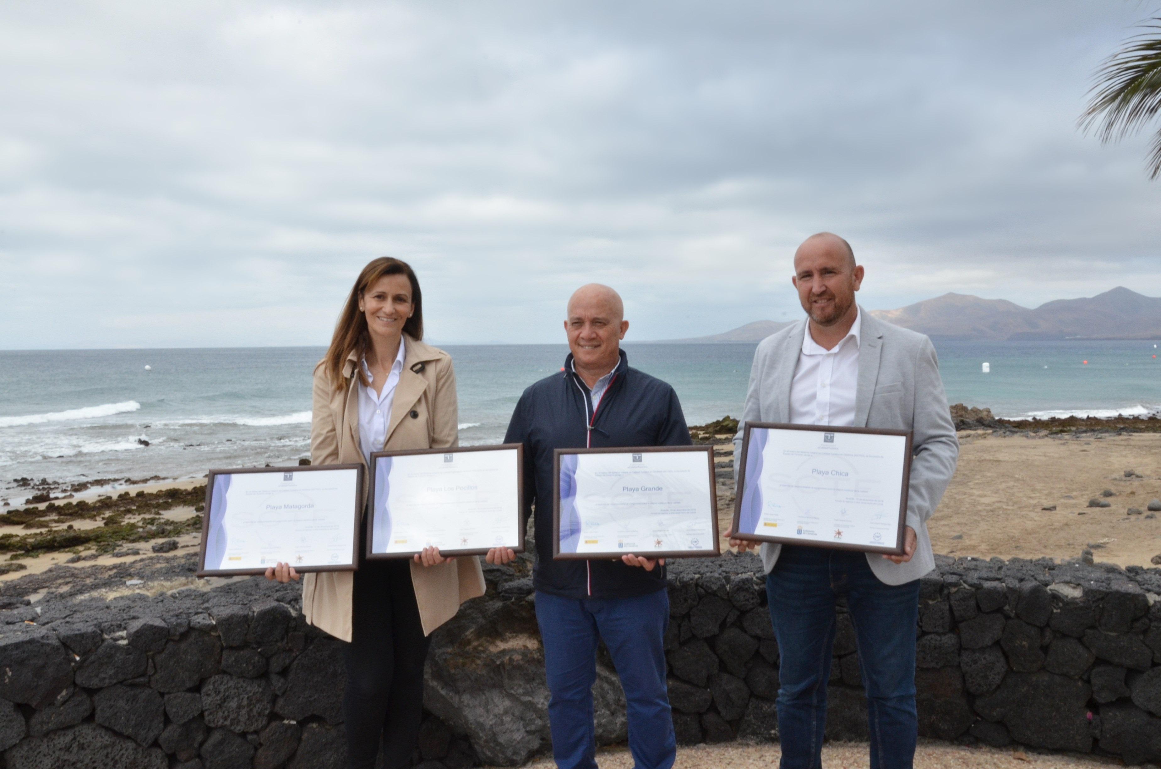 El Ministerio de Turismo otorga a las cuatro playas de Puerto del Carmen el sello de la más alta calidad turística