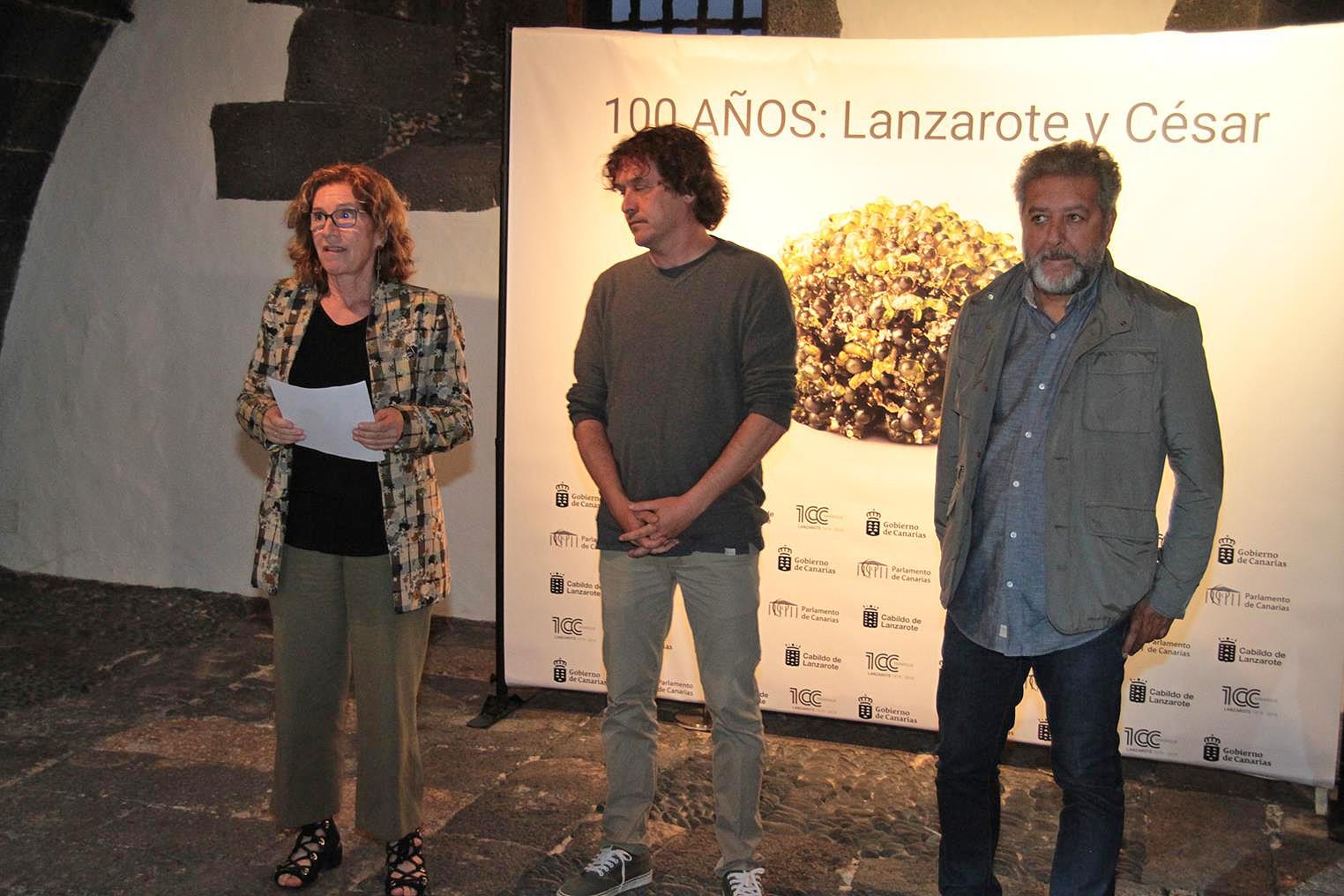Las muestras de '100 años: Lanzarote y César' podrán visitarse conjuntamente hasta este sábado 4 de mayo