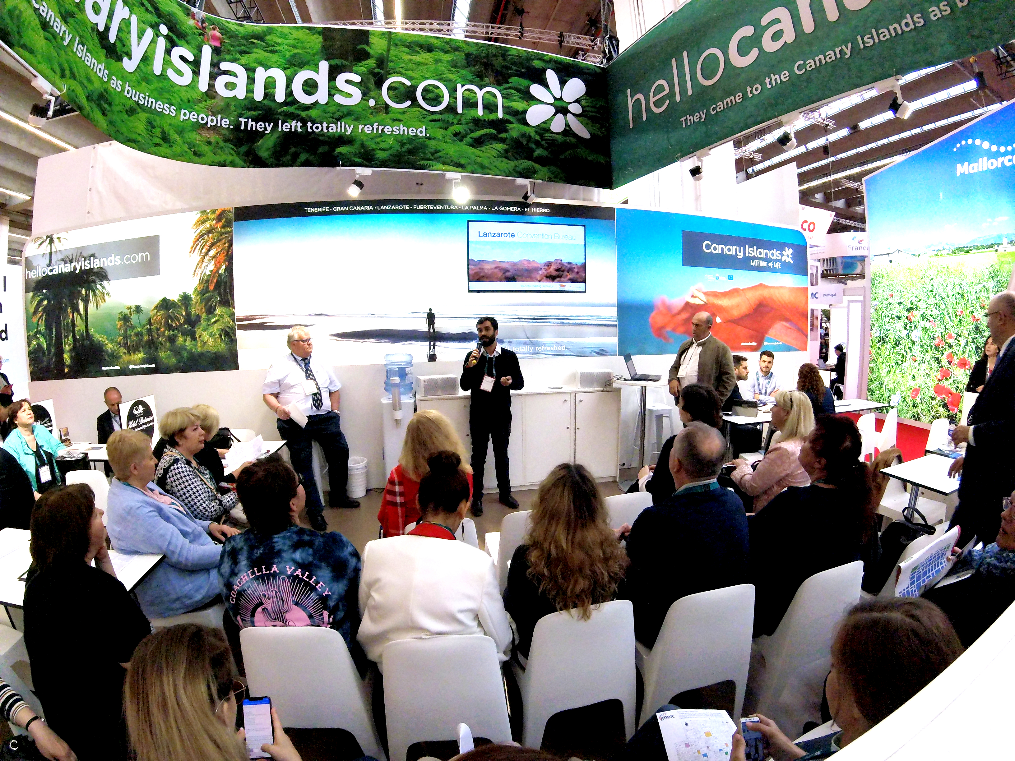 Turismo Lanzarote promocionó un año más el destino en la feria de eventos y congresos IMEX de Frankfurt