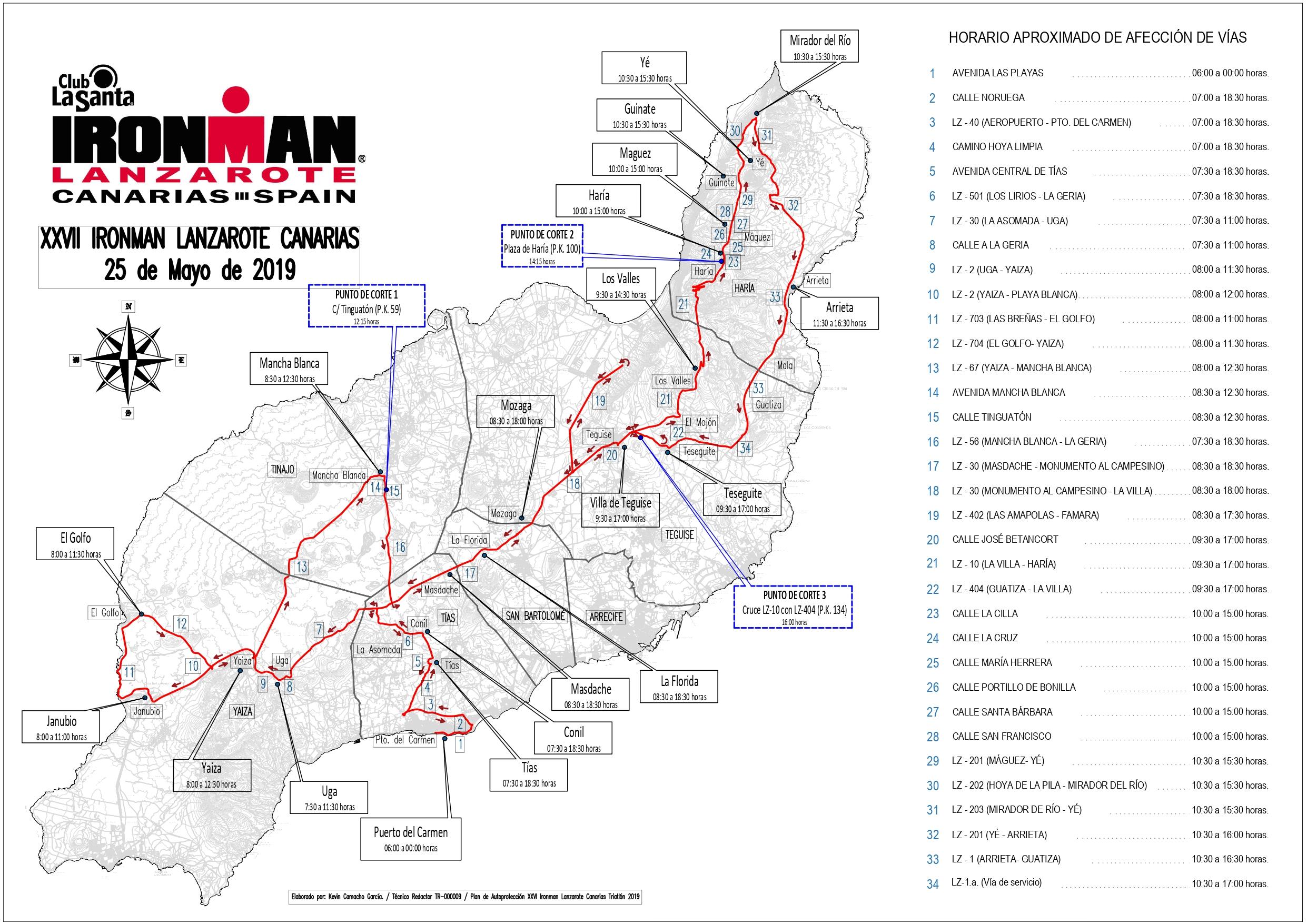 Más de 400 personas velarán por la seguridad durante el 'XXVIII Ironman Lanzarote', que se celebrará el sábado 25 de mayo