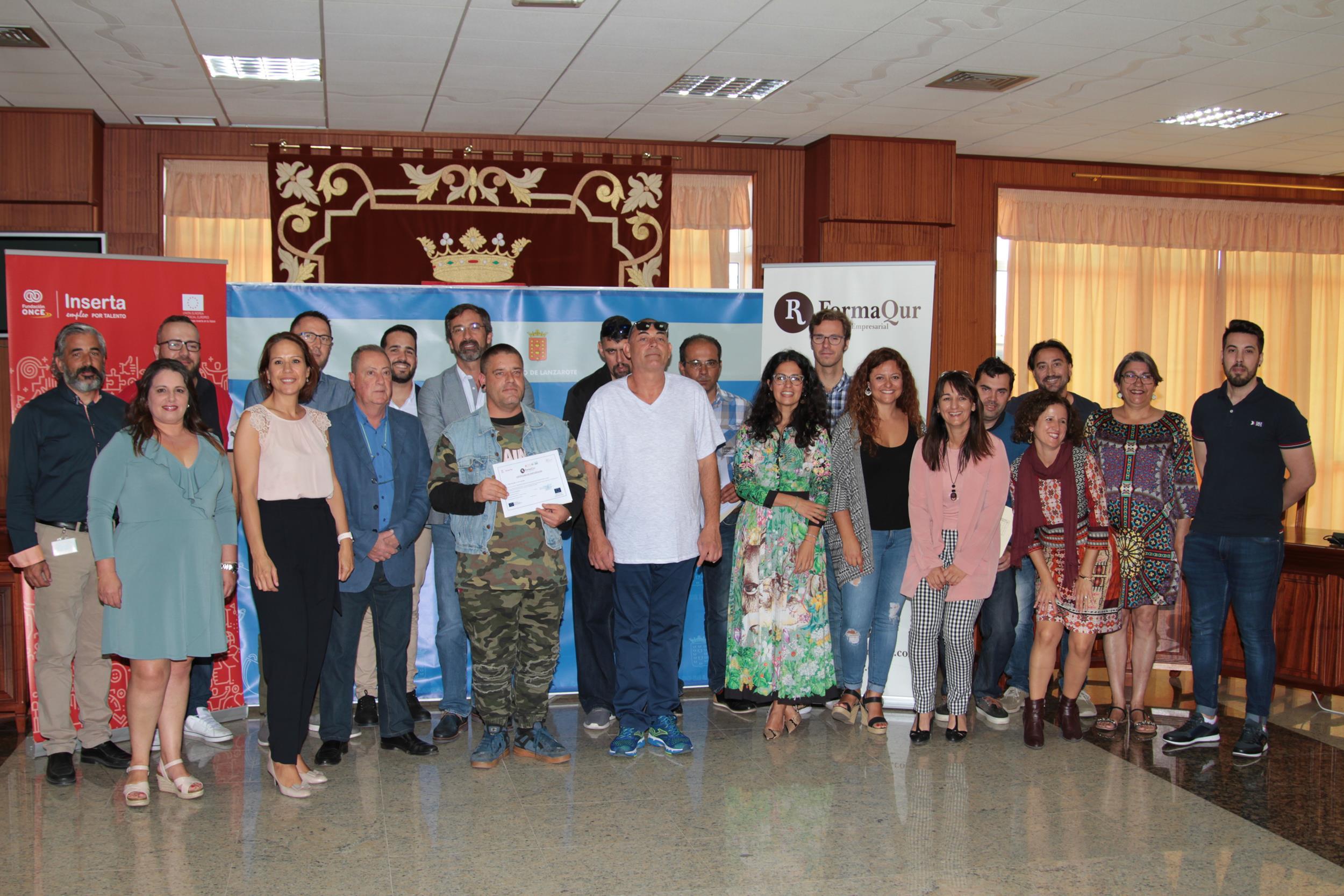 Clausurado el curso 'Operario de Almacén' promovido por Inserta Empleo de la Fundación ONCE y el Cabildo de Lanzarote