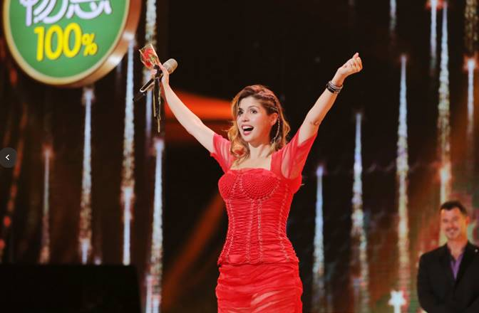 Cristina Ramos arrasa con su voz en el 'Got Talent World' de China