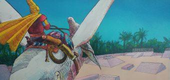 El Aeropuerto César Manrique-Lanzarote exhibe una muestra de ilustraciones de los alumnos de la Escuela de Arte Pancho Lasso