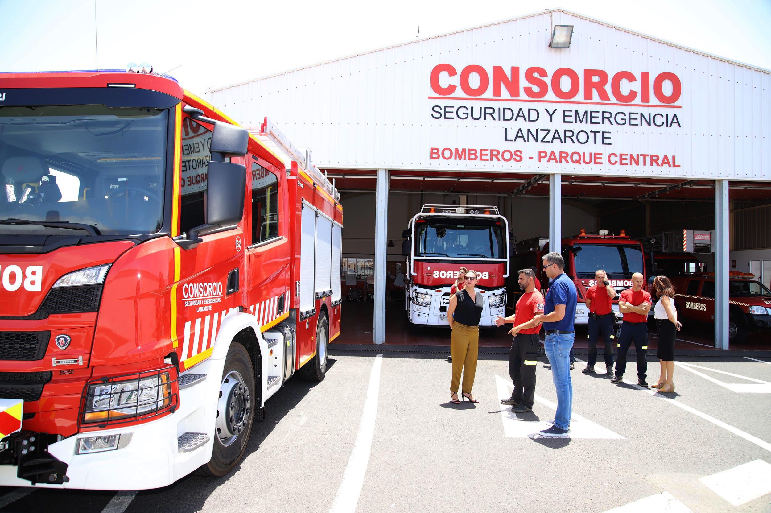 El Cabildo de Lanzarote adquiere un nuevo camión de bomberos que se sumará a la dotación del Parque Sur