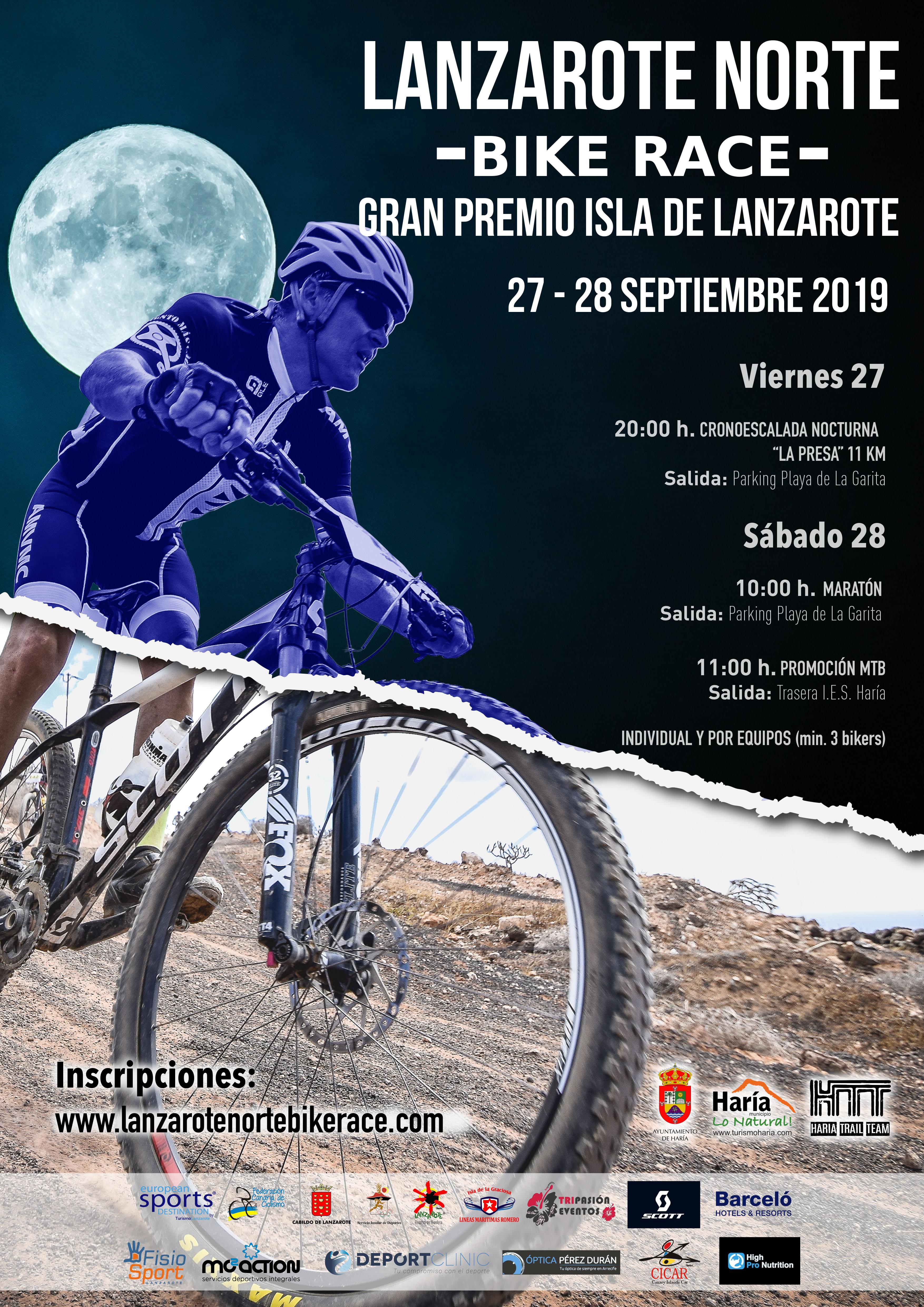 Se abre el plazo de inscripciones para la 'Lanzarote Norte Bike Race' Gran Premio MTB Isla de Lanzarote 2019