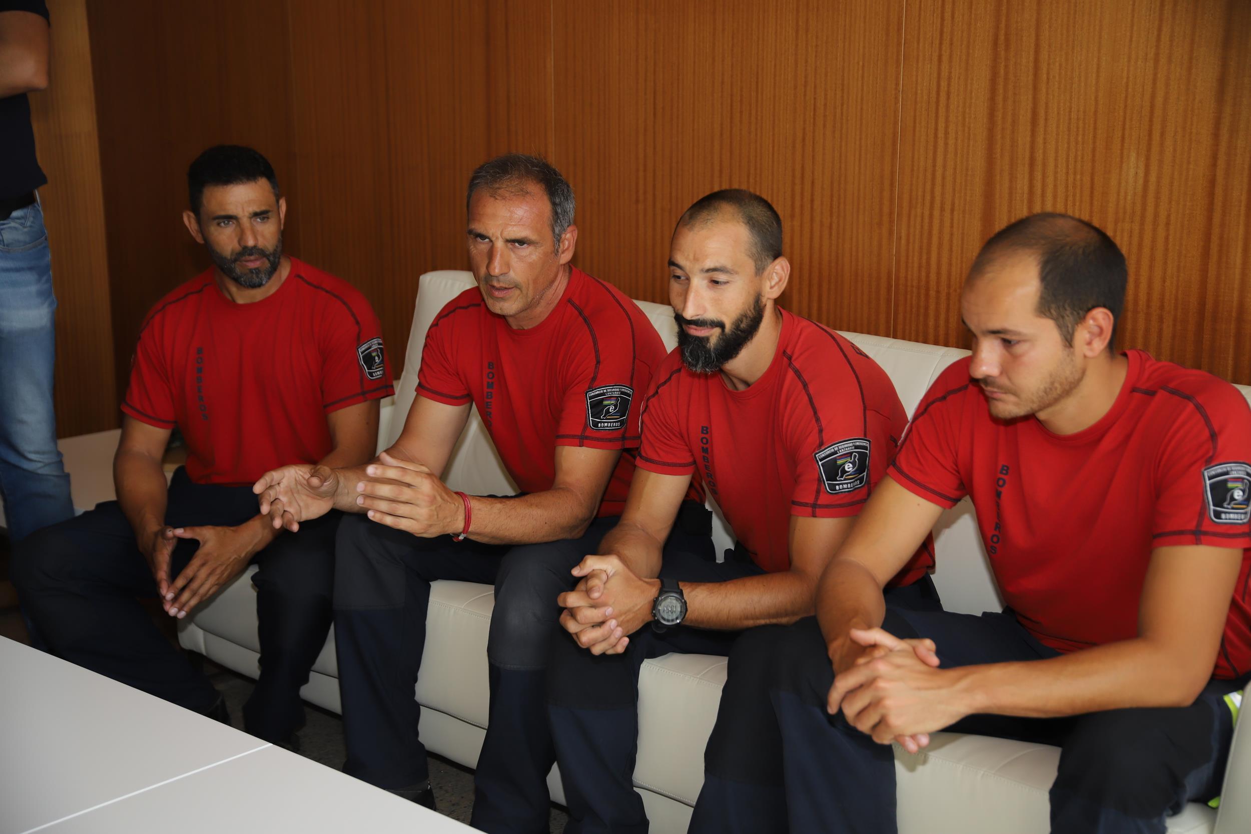 El Cabildo felicita a los bomberos que colaboraron en la extinción del incendio de Gran Canaria