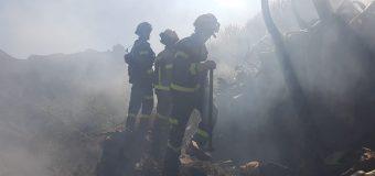 Los bomberos de Lanzarote asisten en las labores de extinción en Gran Canaria