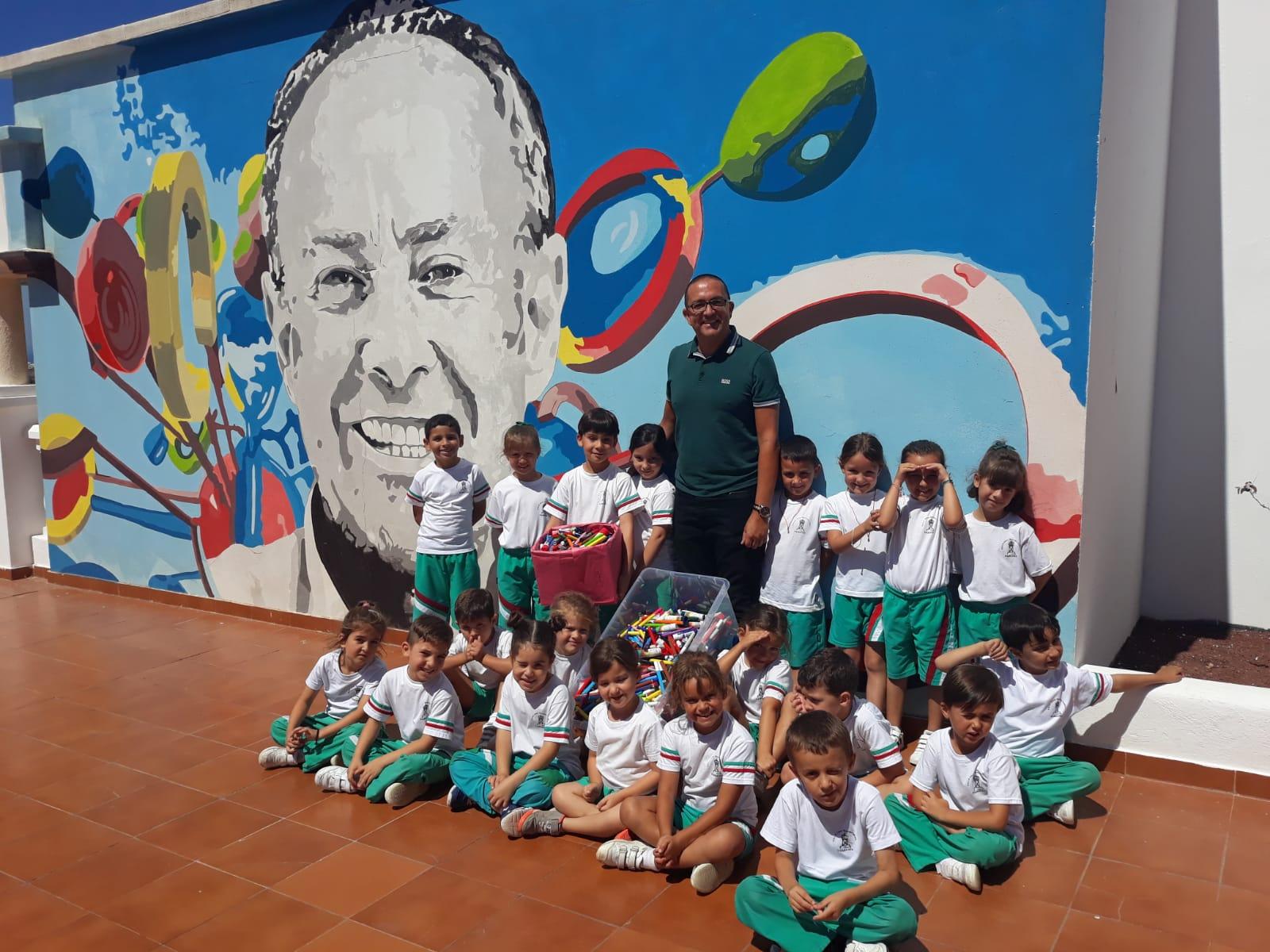 Lanzarote ha reciclado 142,7 kg de material de escritura inservible a través de la campaña 'Operación Reciboli'