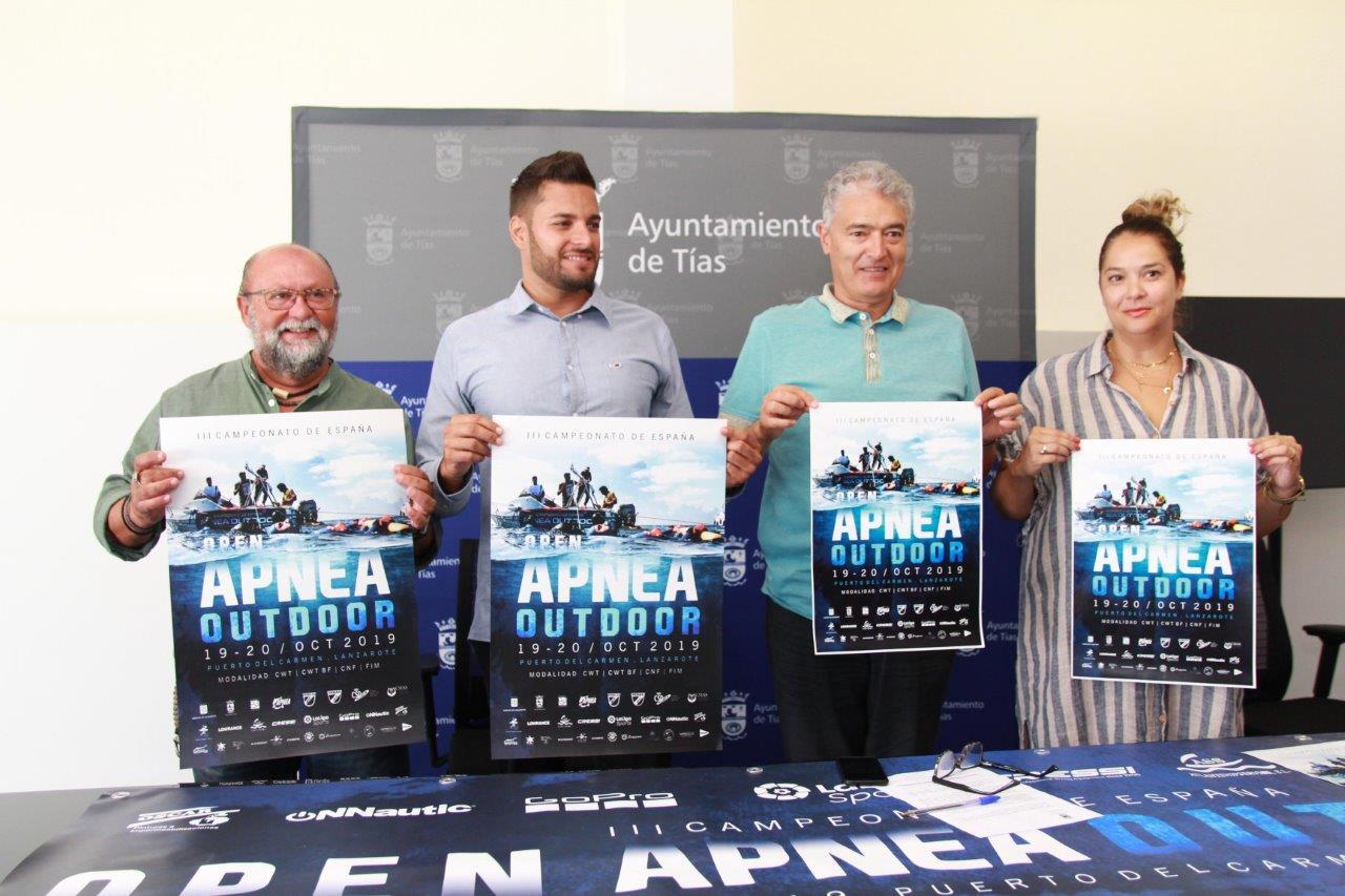 El Ayuntamiento de Tías presenta el III Campeonato de España de Apnea Outdoor con el doble de participantes